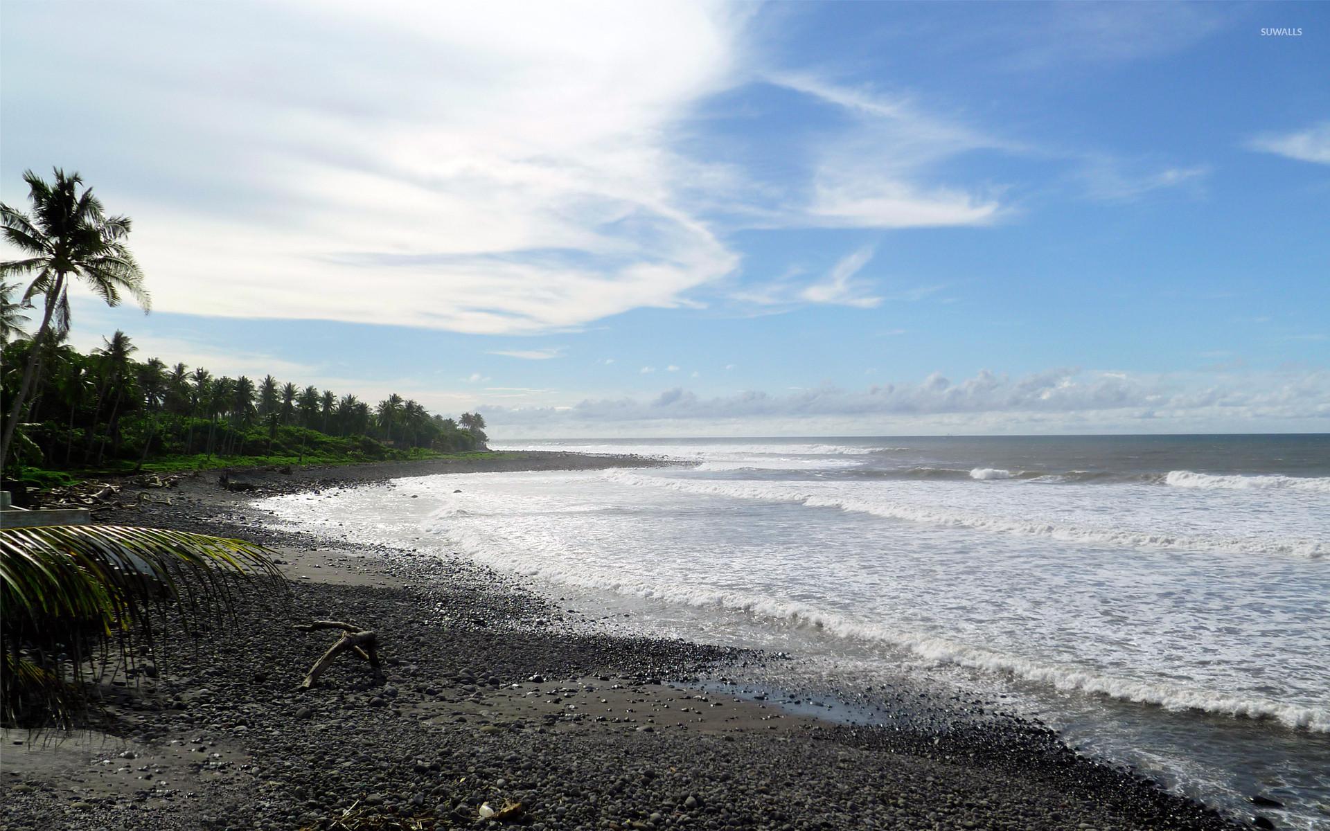 Res: 1920x1200, Pebble beach at the ocean wallpaper