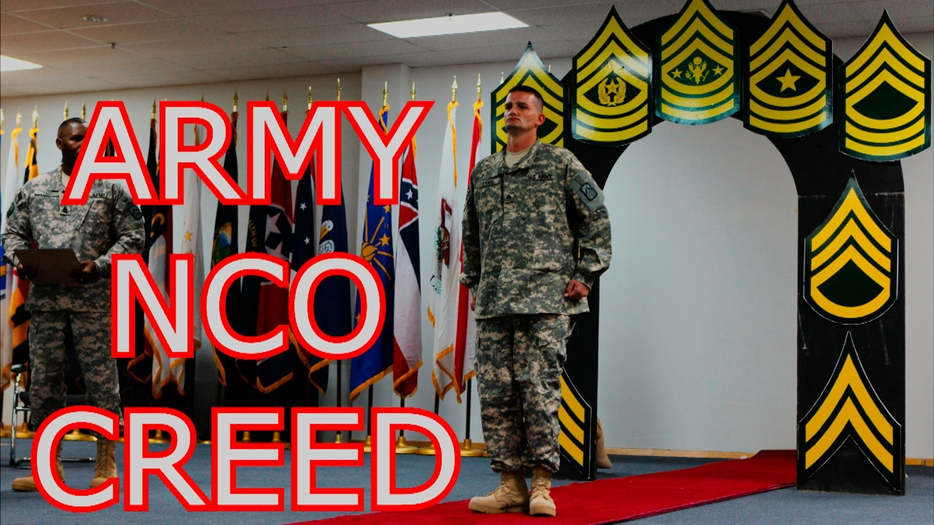 Res: 1920x1080, Life of a U.S. Army Soldier - THE NCO CREED | CREED OF THE NONCOMMISIONED  OFFICER | US ARMY - YouTube