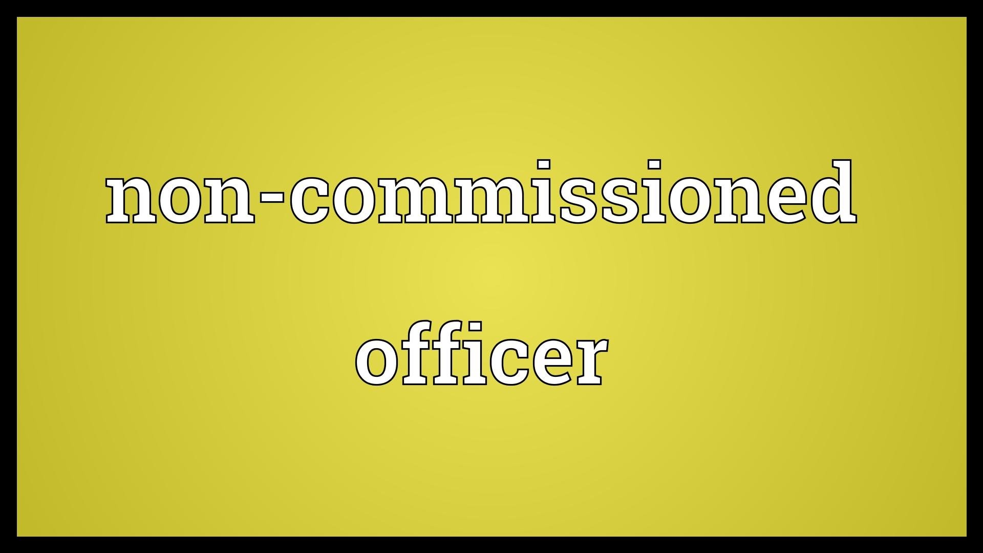 Res: 1920x1080, Non-commissioned officer Meaning