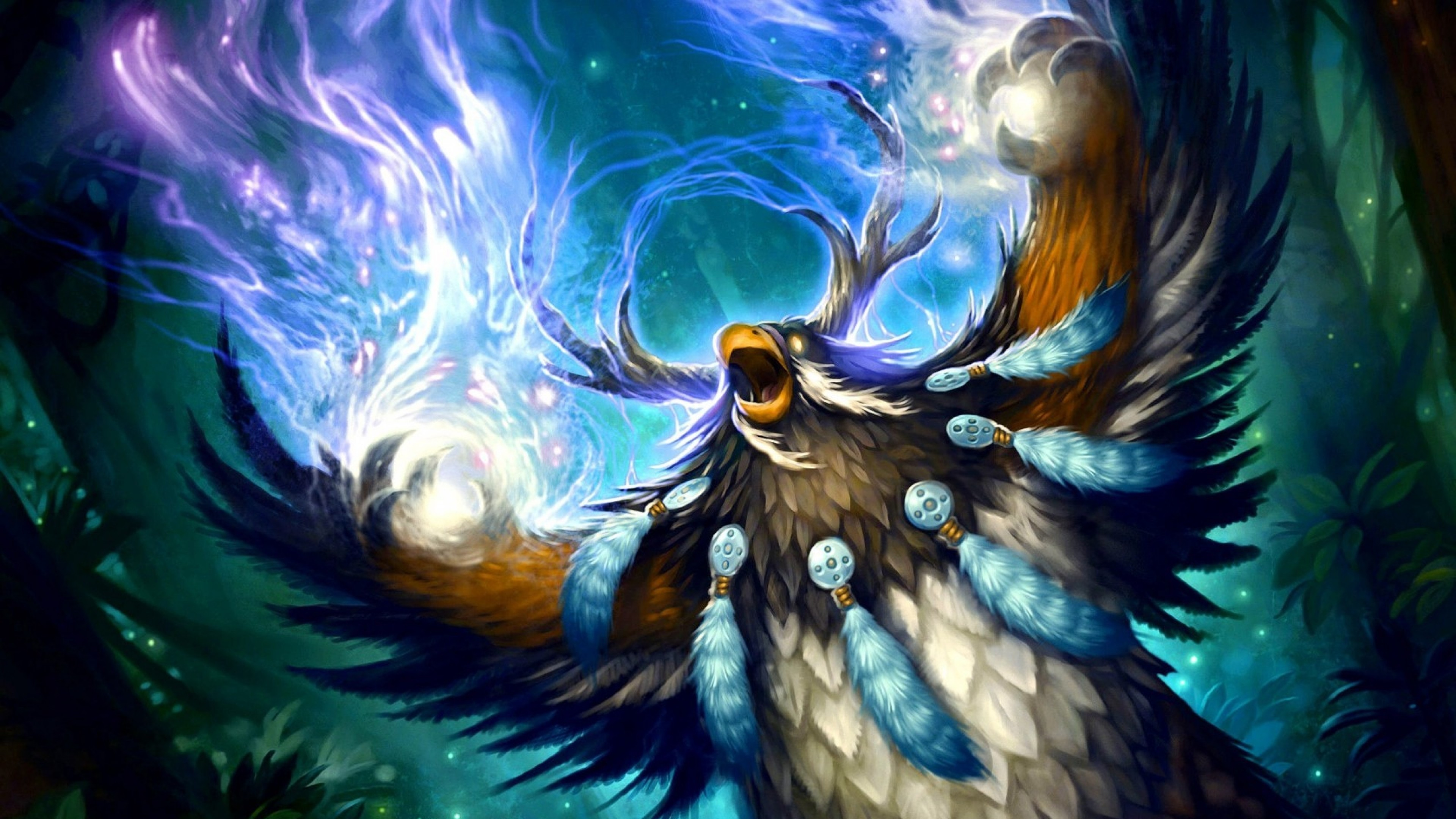 Res: 3840x2160,   Wallpaper wow, druid, world of warcraft