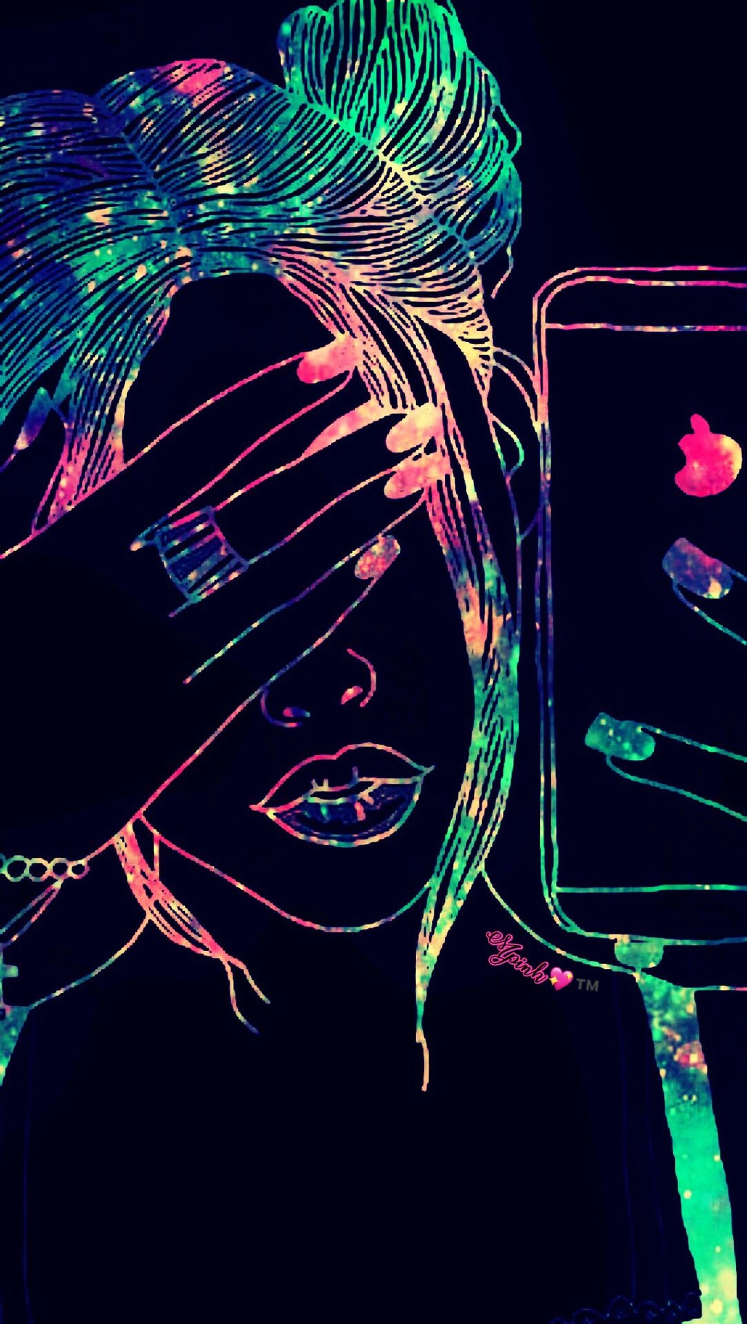 Res: 1083x1920, Cool Girl Galaxy Wallpaper #androidwallpaper #iphonewallpaper #wallpaper # galaxy #sparkle #glitter