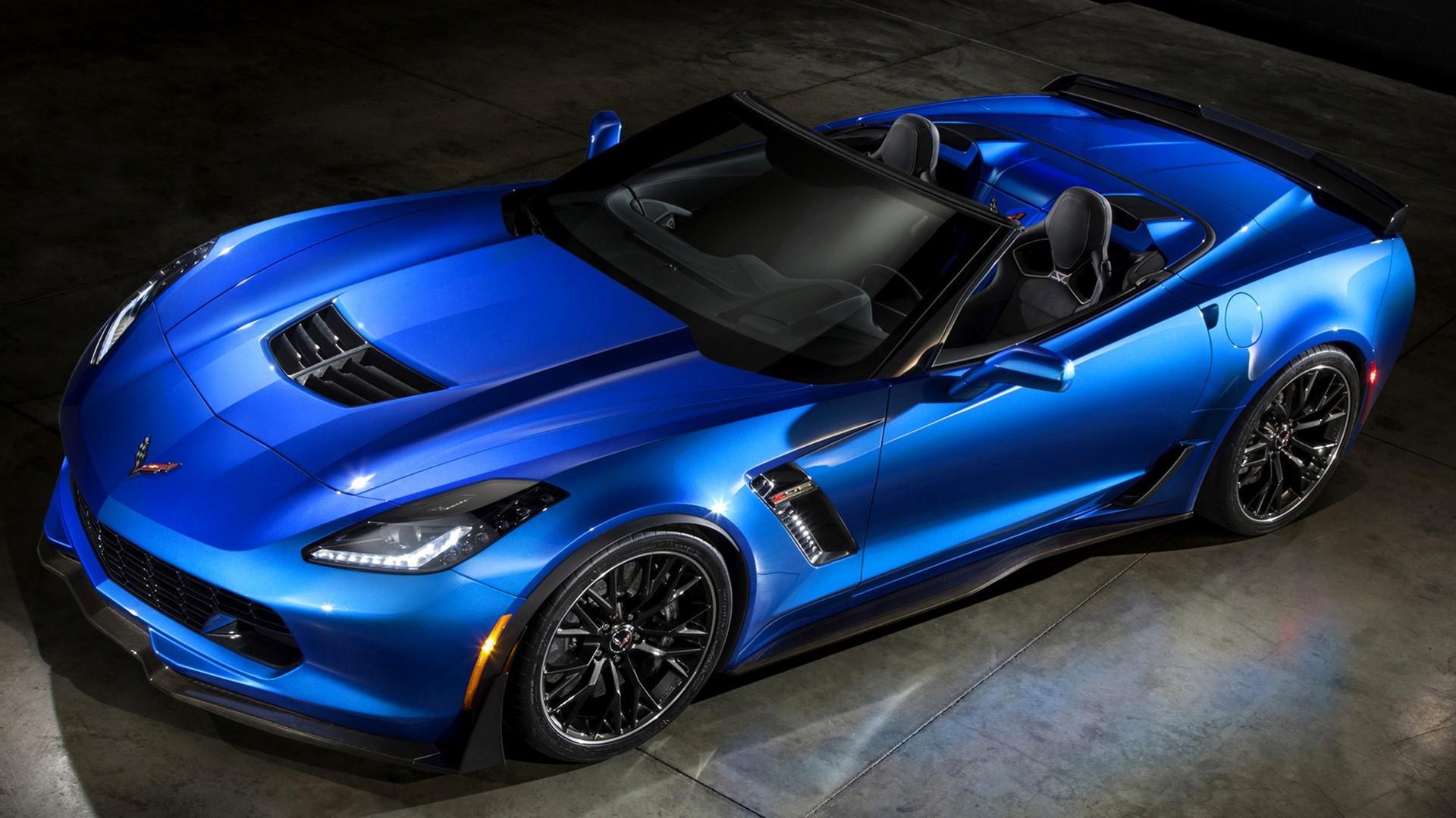 Res: 1920x1080, New Chevrolet Corvette Z06 Convertible Blue Car HD Wallpapers