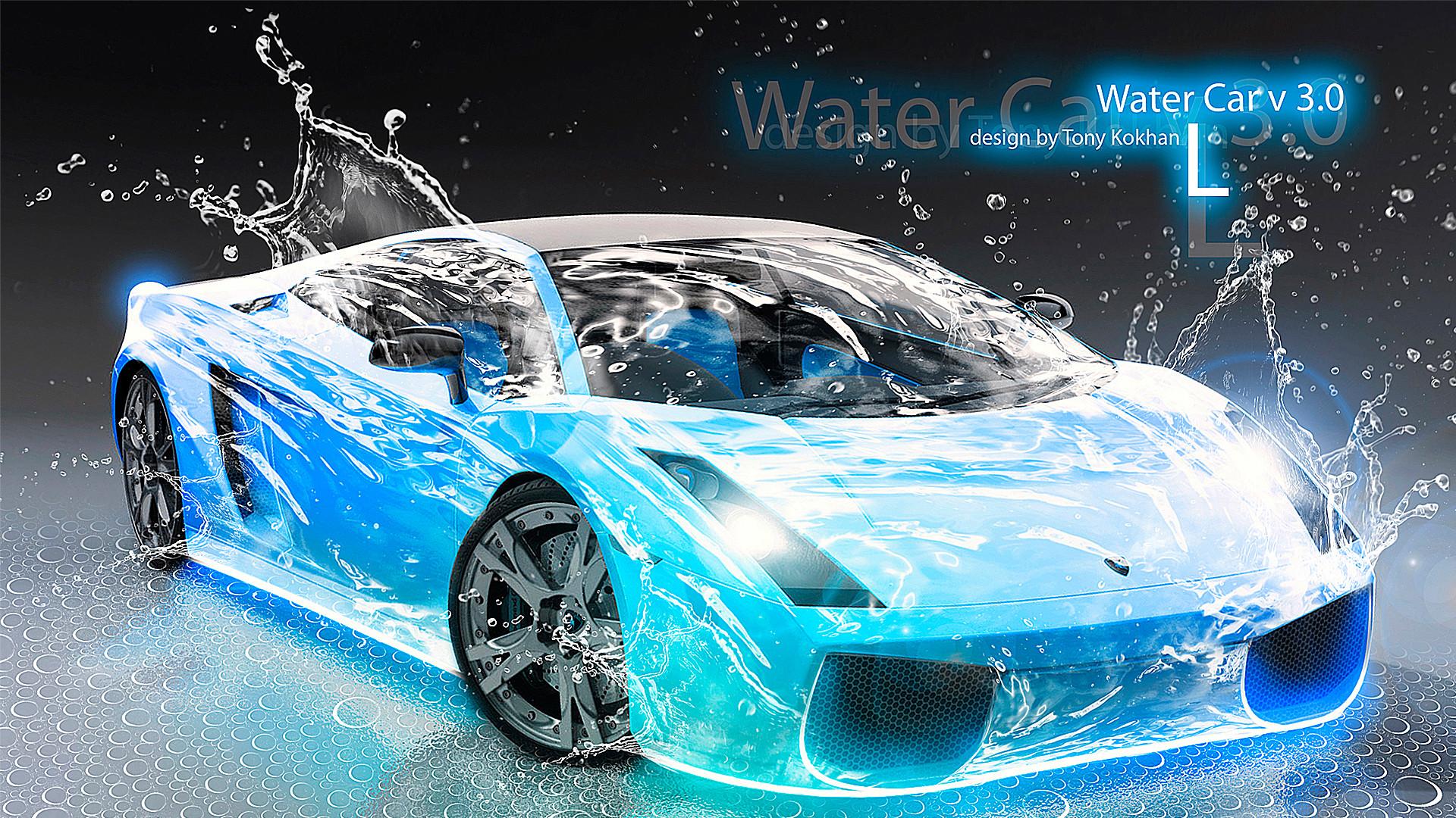 Res: 1920x1080, Lamborghini-Gallardo-Water-Car-Blue-2012-HD-Wallpapers- ...