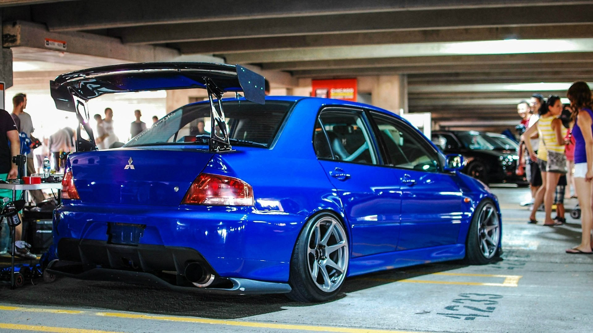Res: 1920x1080, car, JDM, Mitsubishi, Blue Cars Wallpapers HD / Desktop and Mobile  Backgrounds