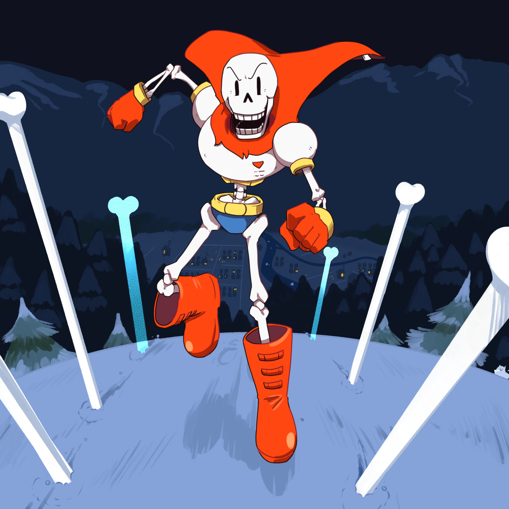 Res: 2000x2000, UNDERTALE-The Game Hintergrund probably with a breitschwert, lehm, claymore  titled Papyrus