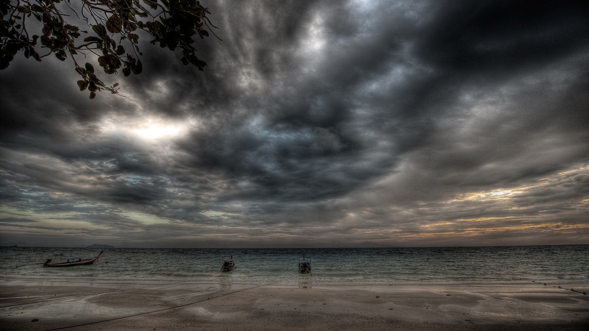 Res: 1920x1080, Hdr photography beaches clouds ocean sea wallpaper