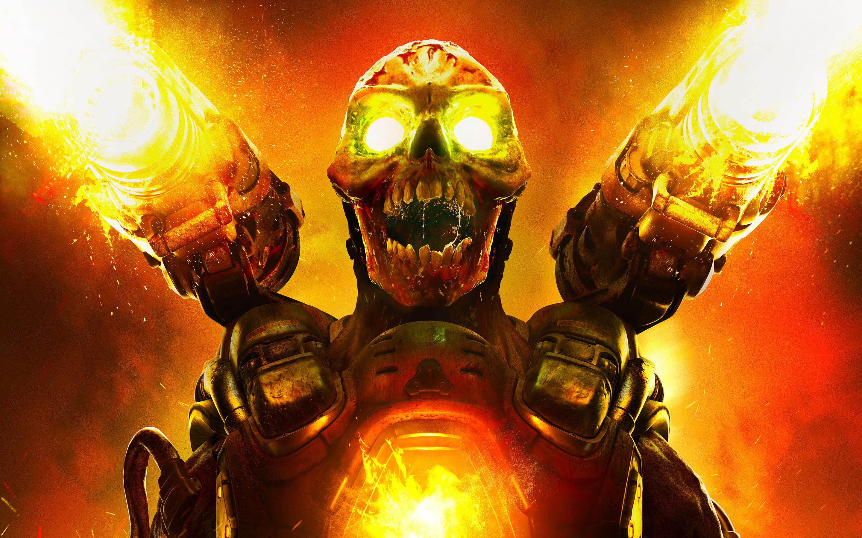 Res: 2880x1800, Doom 2016 Game Wallpaper