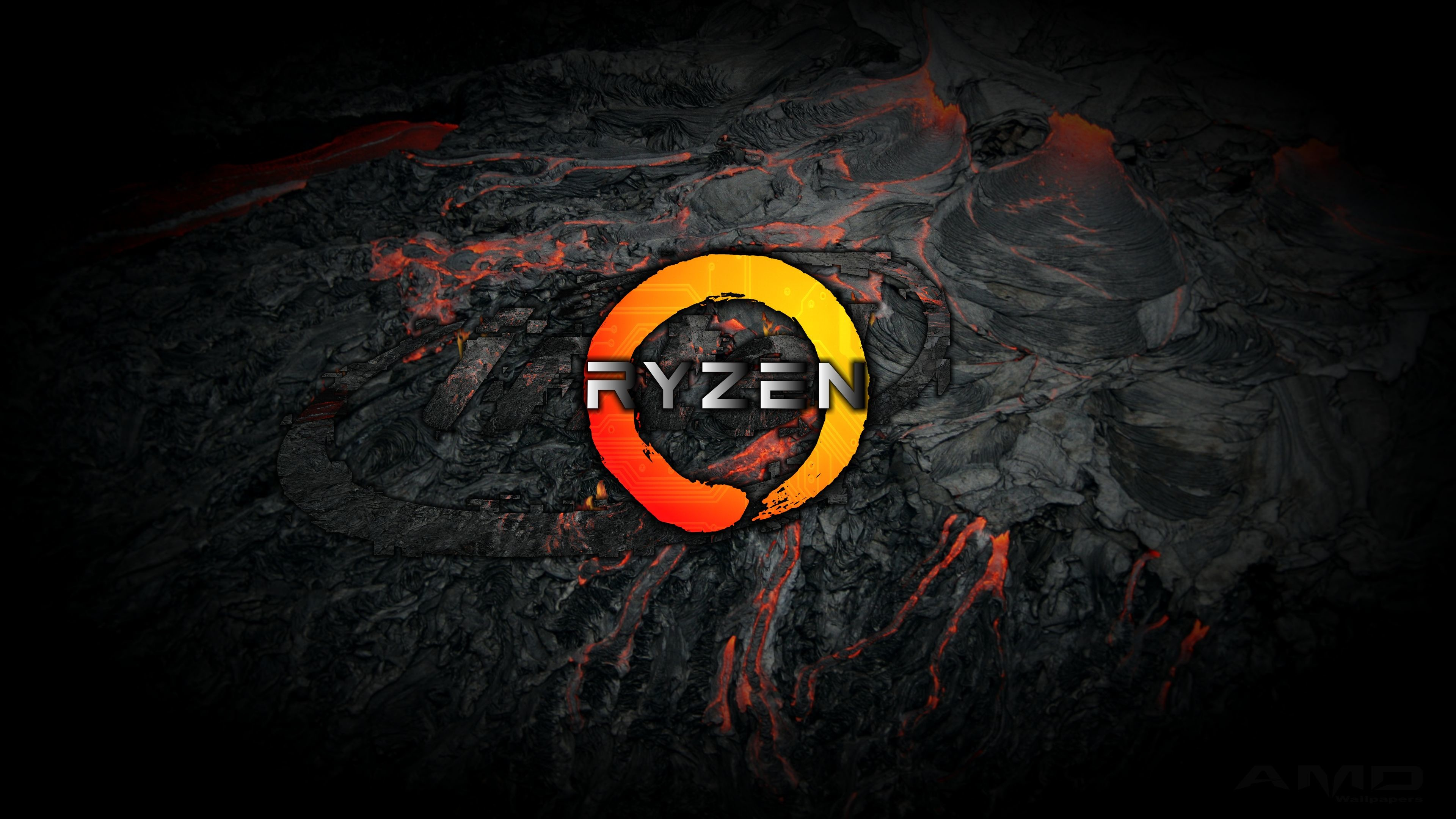 Res: 3840x2160, AMD Wallpapers - 4K HD AMD Ryzen magma wallpaper background -