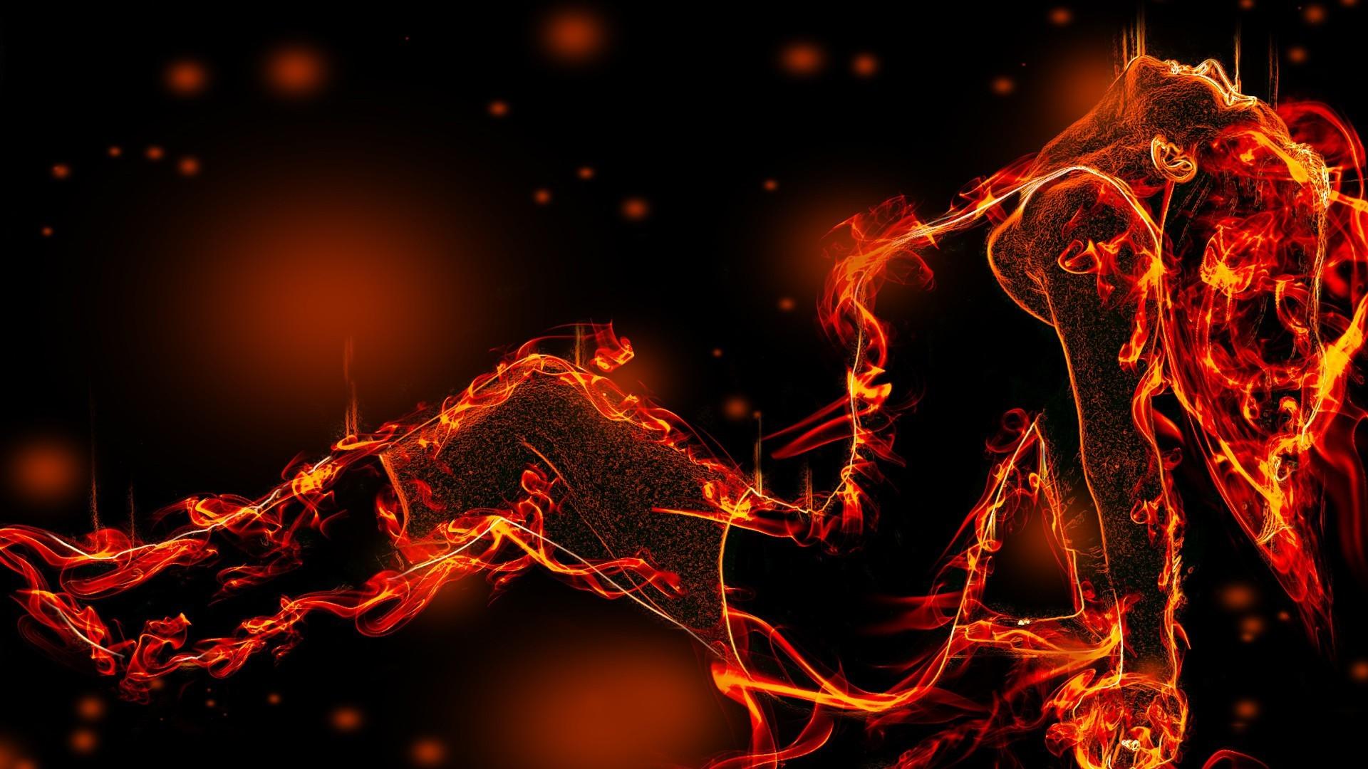 Res: 1920x1080, chica fire hermosa dw da abstract fantasy hd wallpaper