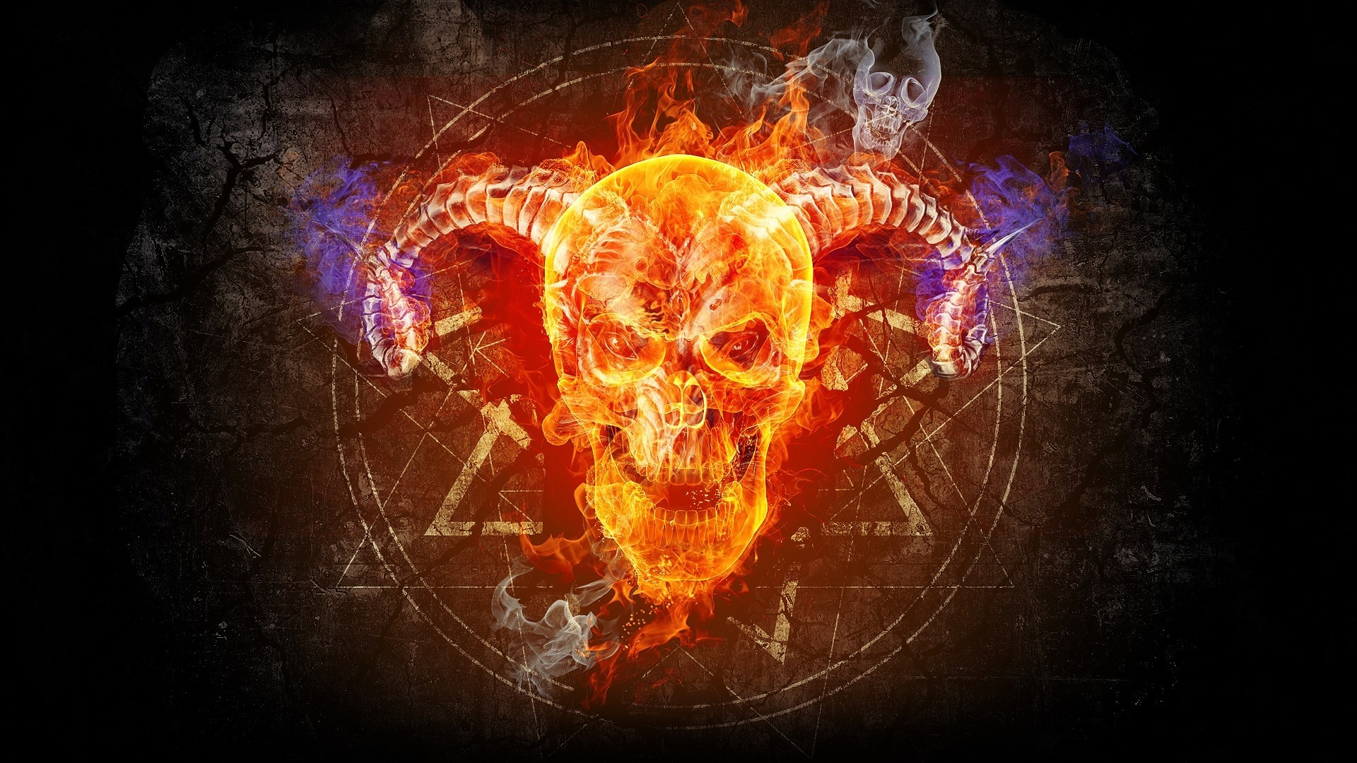 Res: 1920x1080, Skull Fire Wallpapers - Resolution: , Kelsey Mahlum