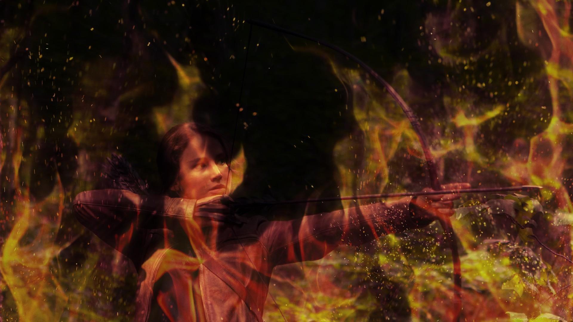 Res: 1920x1080, Jennifer lawrence katniss everdeen the hunger games fire wallpaper