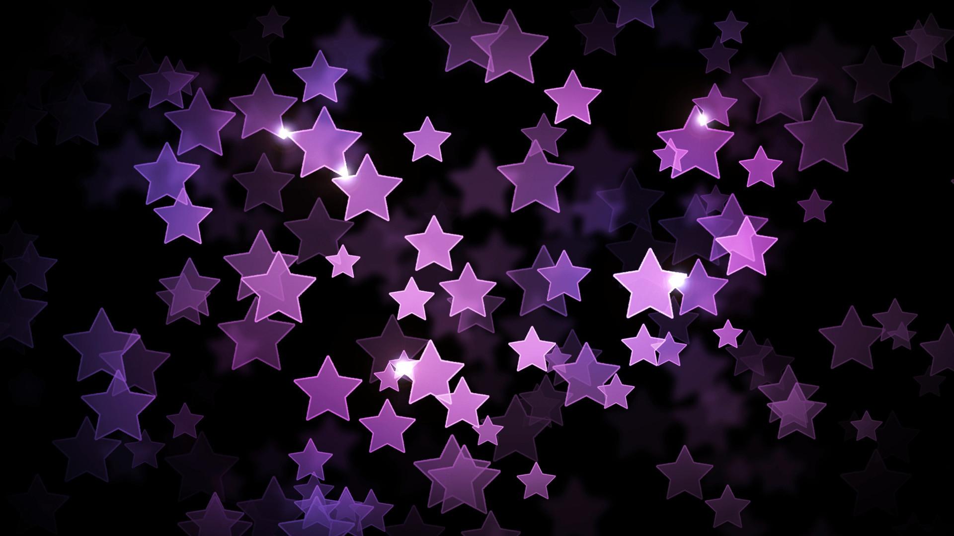 Res: 1920x1080, Purple Stars Wallpaper