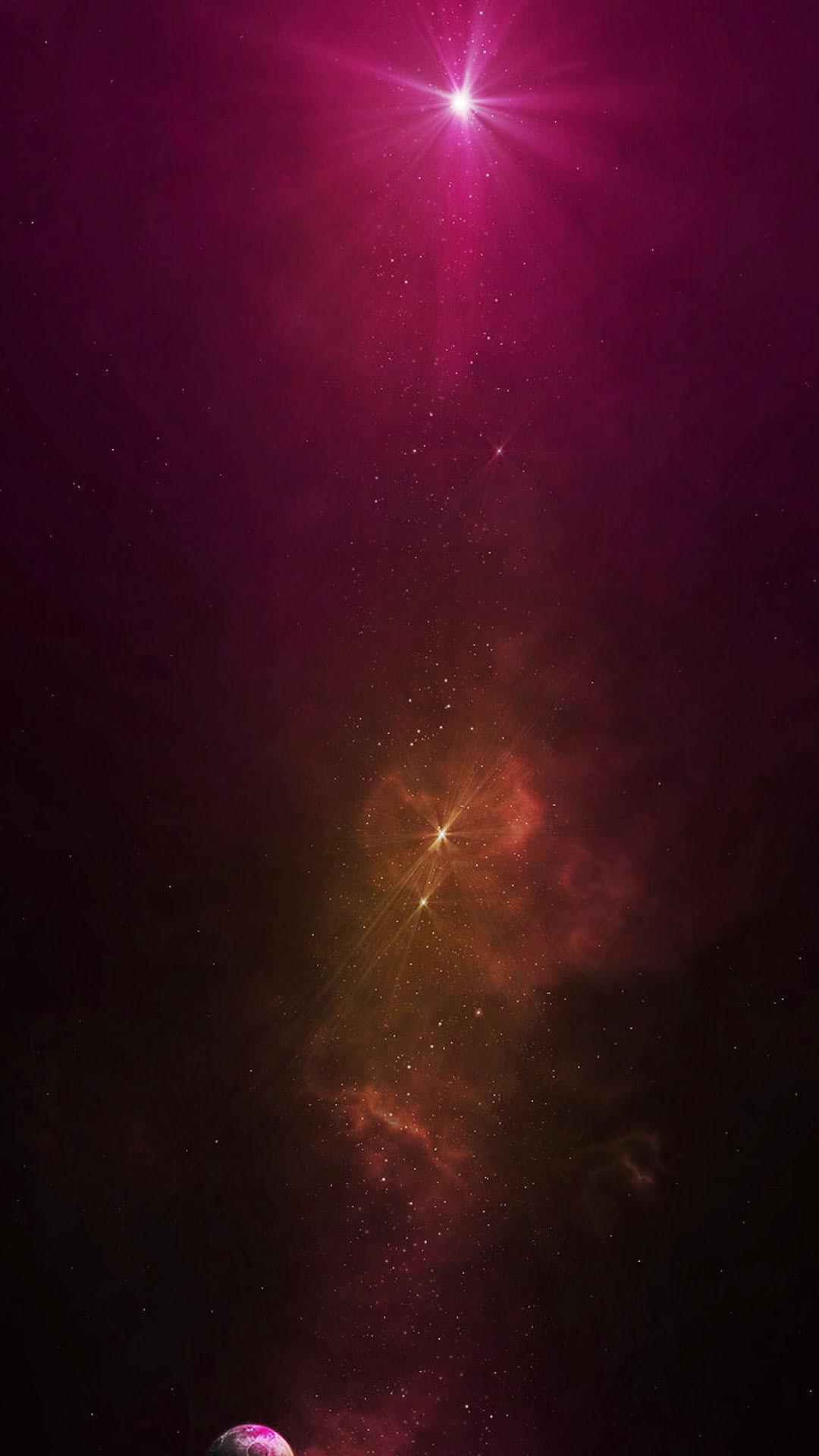 Res: 1080x1920, Orange Galaxy Dust Purple Star Android Wallpaper ...