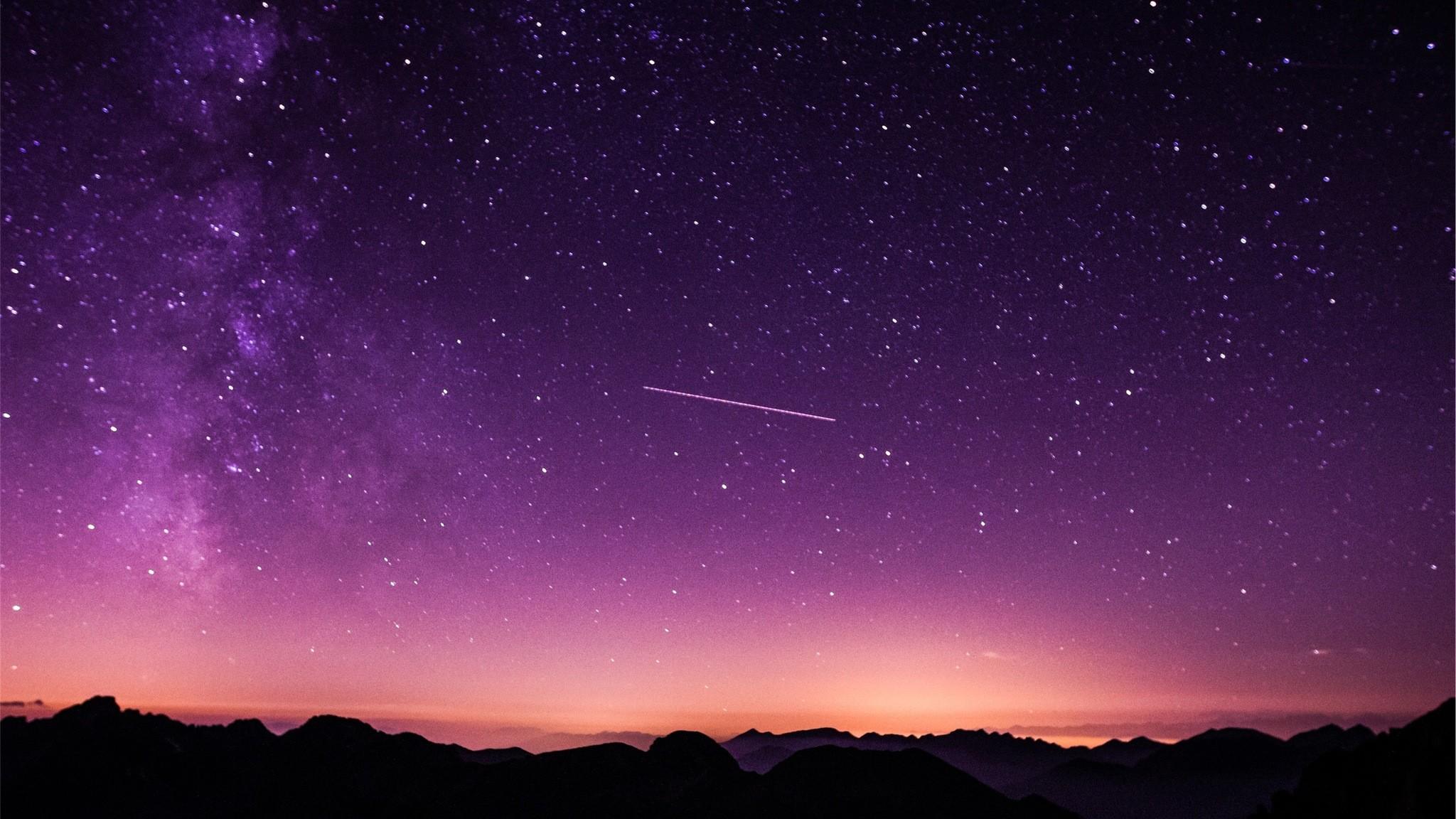 Res: 2048x1152, shooting-stars-in-purple-sky-k8.jpg