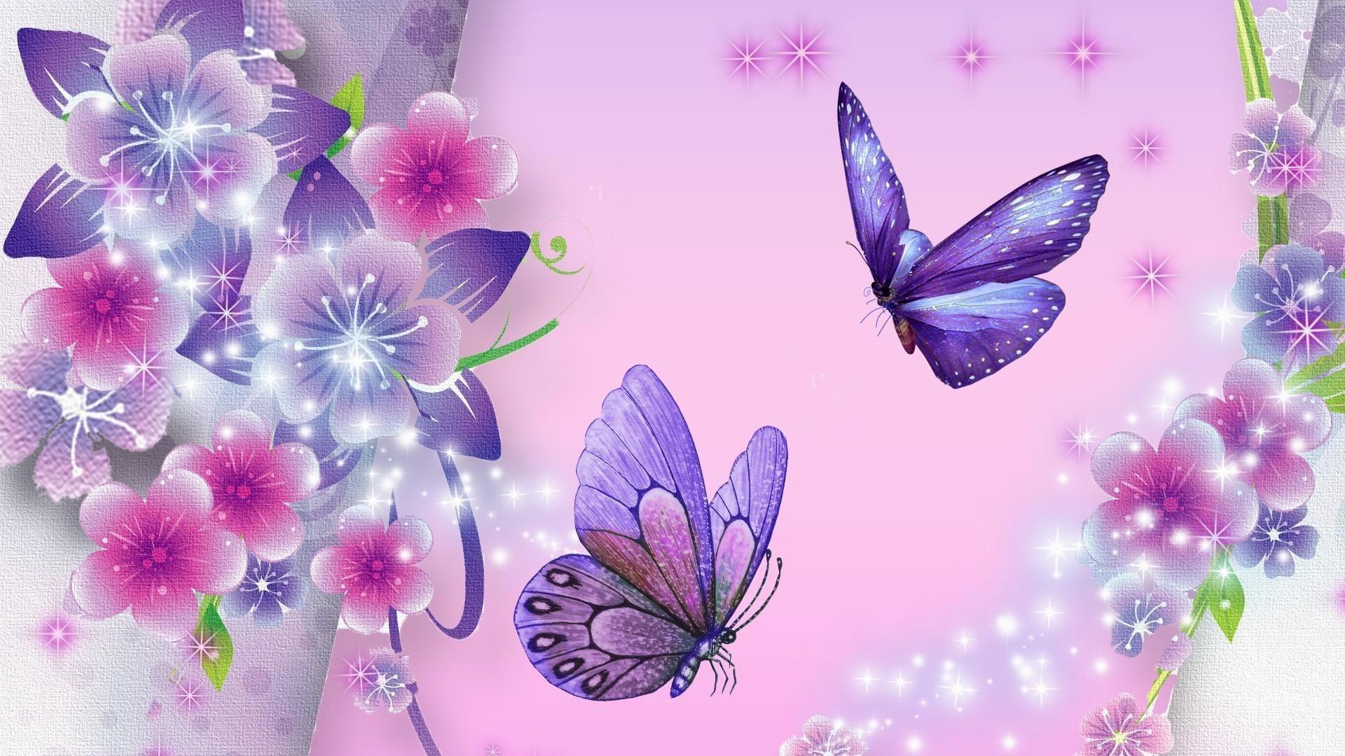 Res: 1920x1080,  Butterfly-wallpaper-purple-star