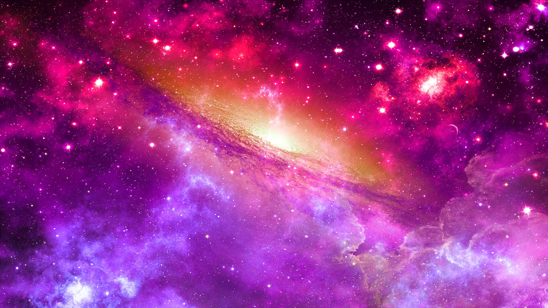 Res: 1920x1080,  Preview wallpaper space, universe, nebula, star, light