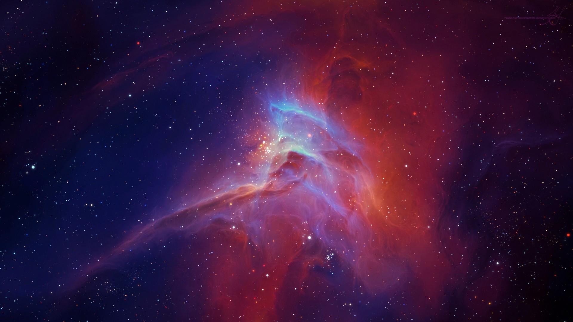 Res: 1920x1080,  Wallpaper star, nebula, glow