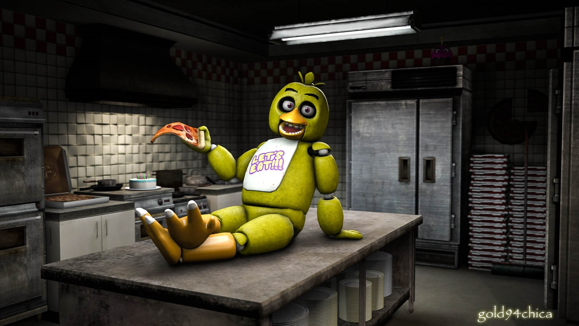 Res: 1920x1080, (Chica SFM Wallpaper) by gold94chica