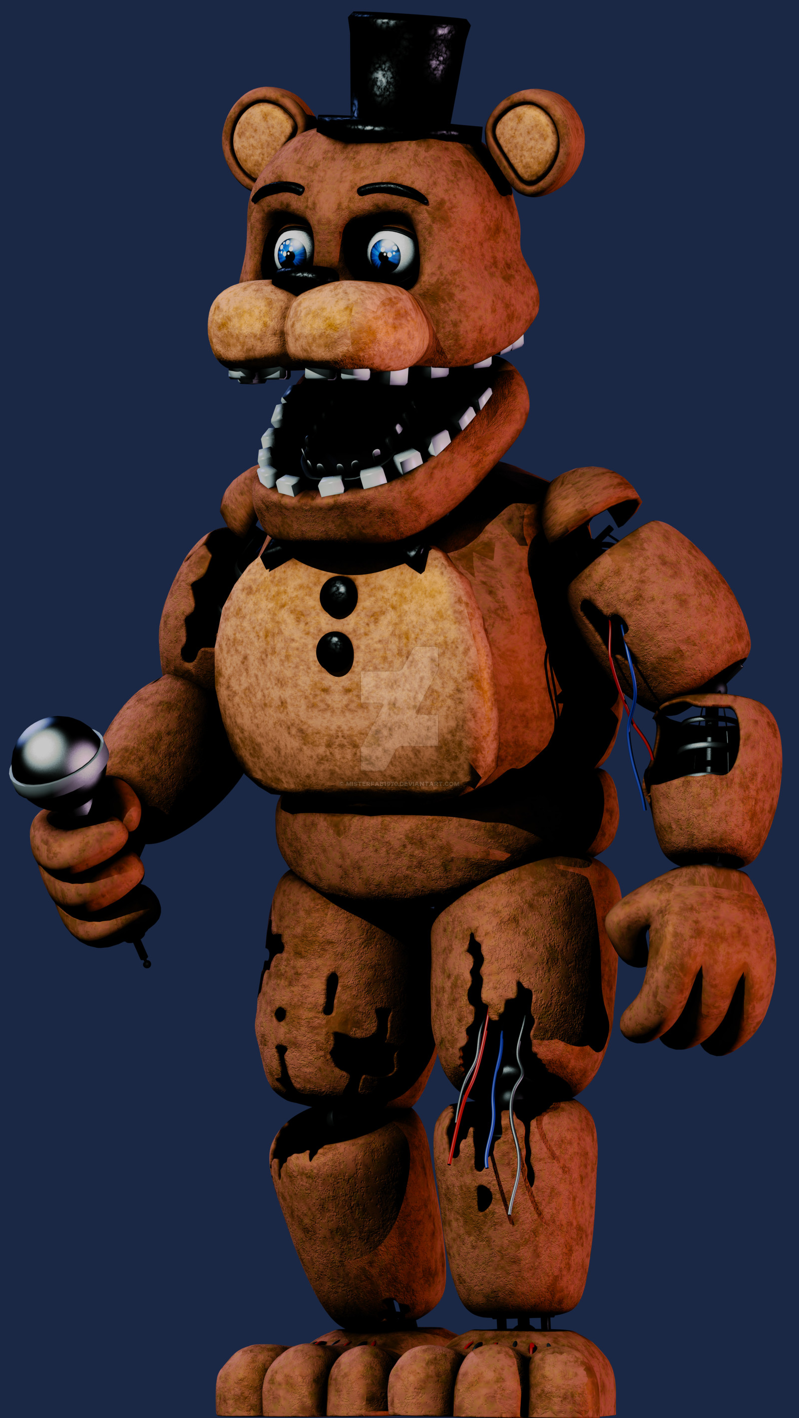 Res: 1600x2841, Fnaf 2 Withered Freddy by MisterFab1970