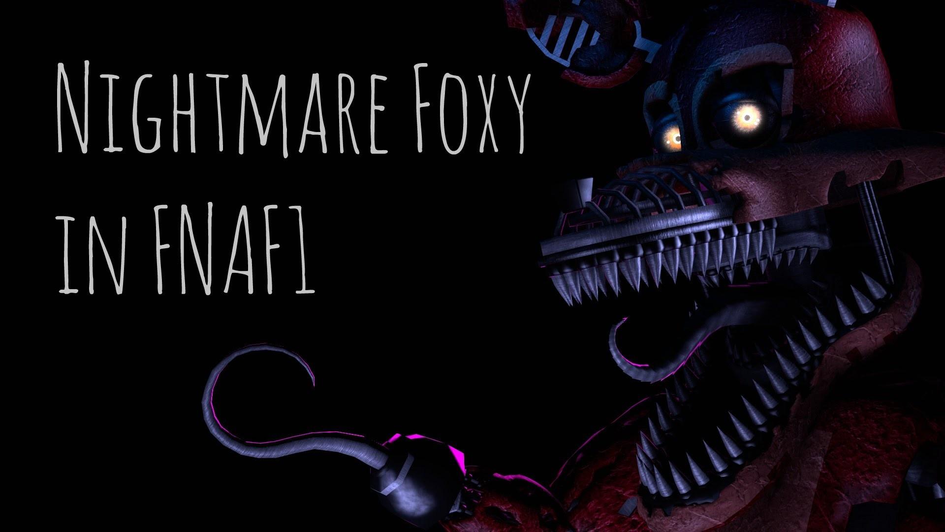 Res: 1920x1080, [FNAF SFM] Nightmare Foxy in FNAF1 - YouTube