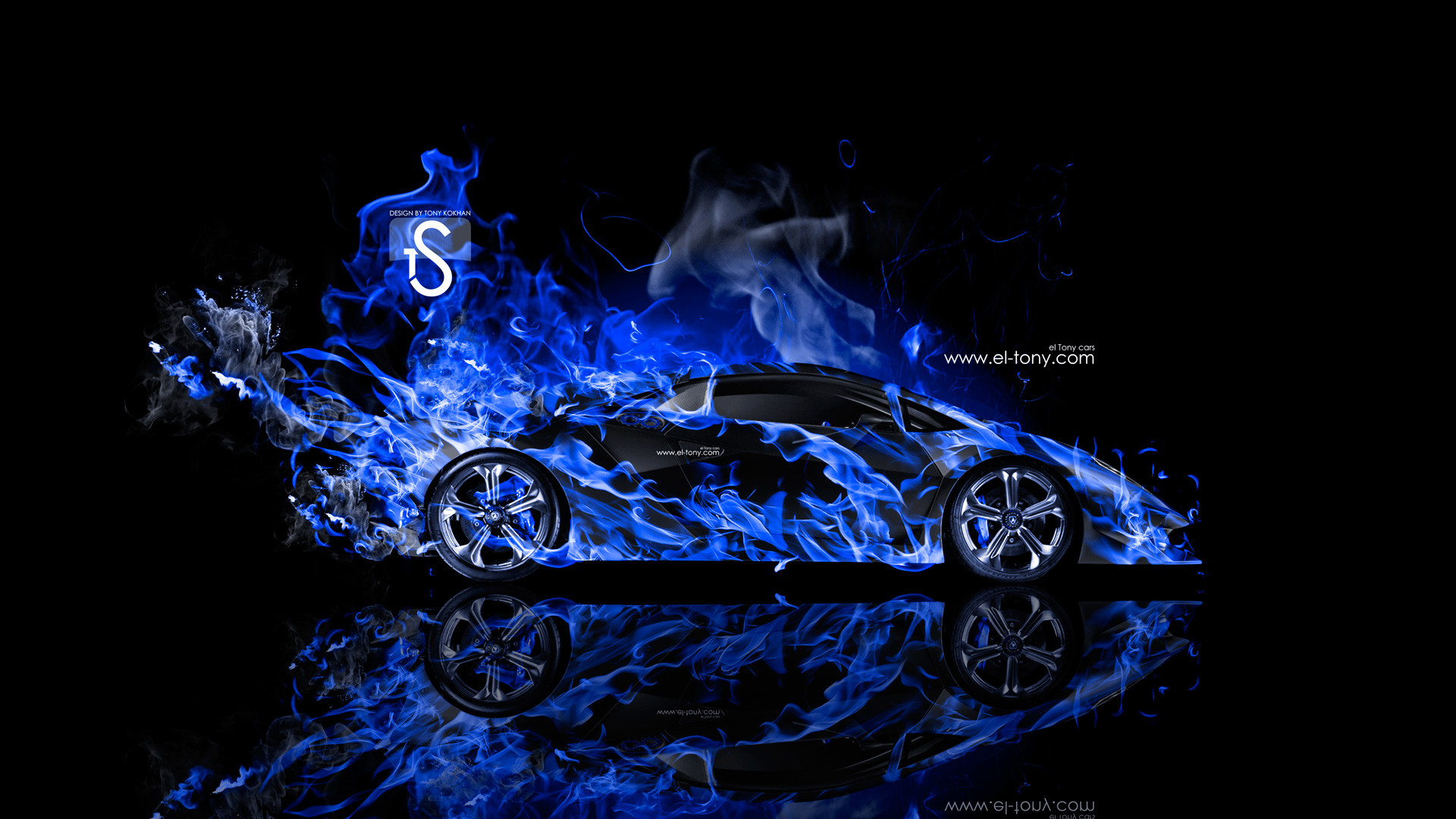 """Res: 1920x1080, """"Lamborghini-Sesto-Elemento-Blue-Fire-Abstract-Car-2014-HD-Wallpapers-design-by-Tony-Kokhan-www.el-tony.com_.jpg  (1920×1080) Lamborghini Sesto Elemento Fire ..."""