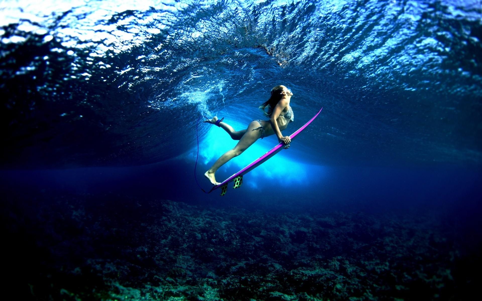 Res: 1920x1200, Underwater Surfing Girls image