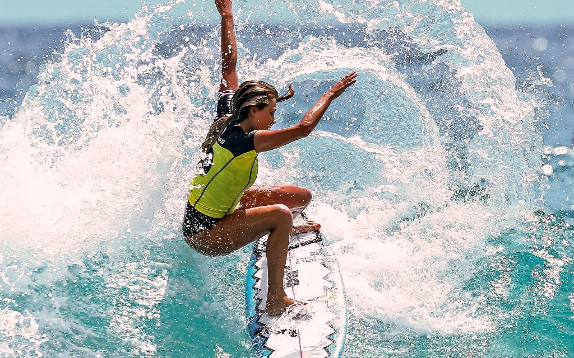 Res: 1920x1200, Motivational, Surfer, Surfing, Water Splashing, Surfer Girl, Alana  Blanchard, Alana