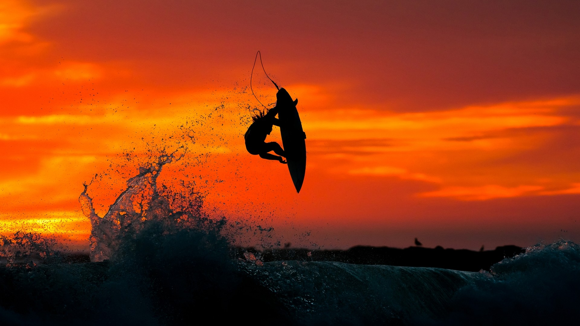 Res: 1920x1080, Sports - Surfing Sunset Wallpaper