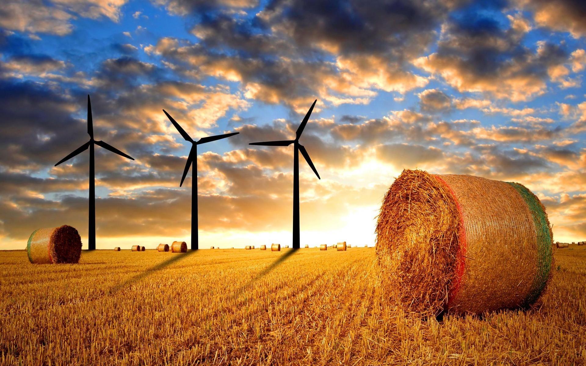 Res: 1920x1200, Light Wind Farm Field HD Wallpaper