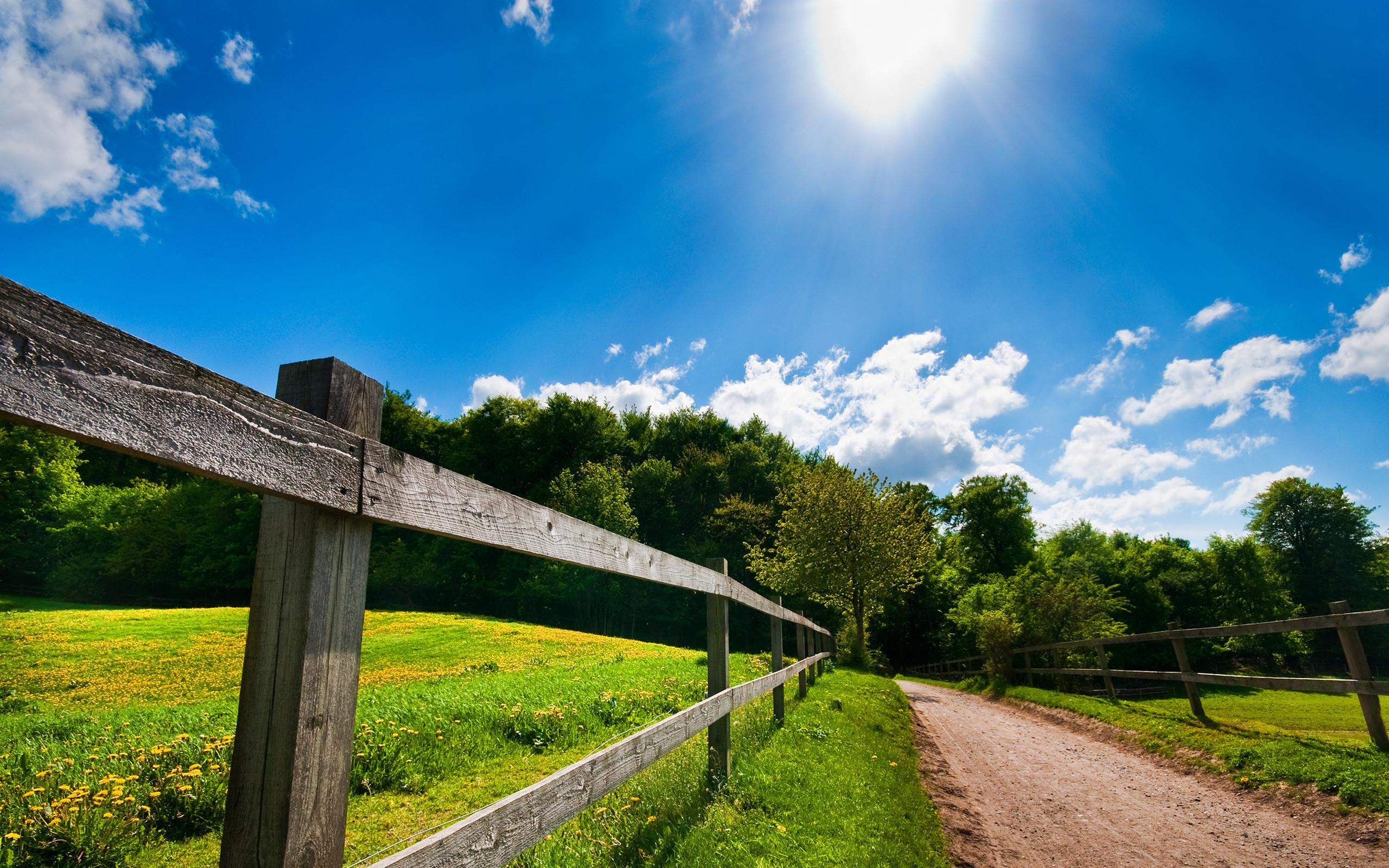 Res: 2560x1600, Farm Fence Wide Wallpaper 50435