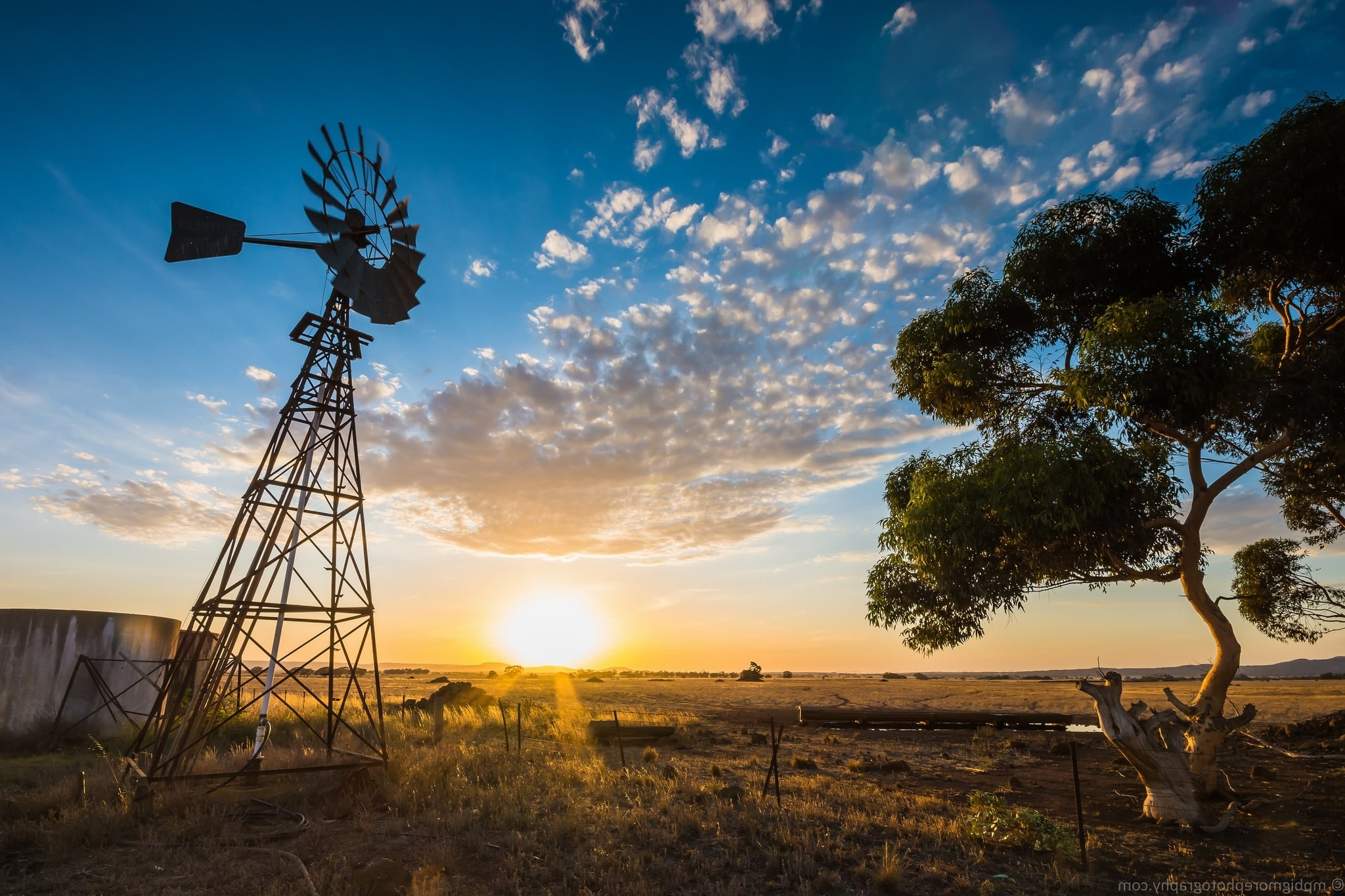 Res: 2048x1365, Australia sunset farm rural landscape wallpapers