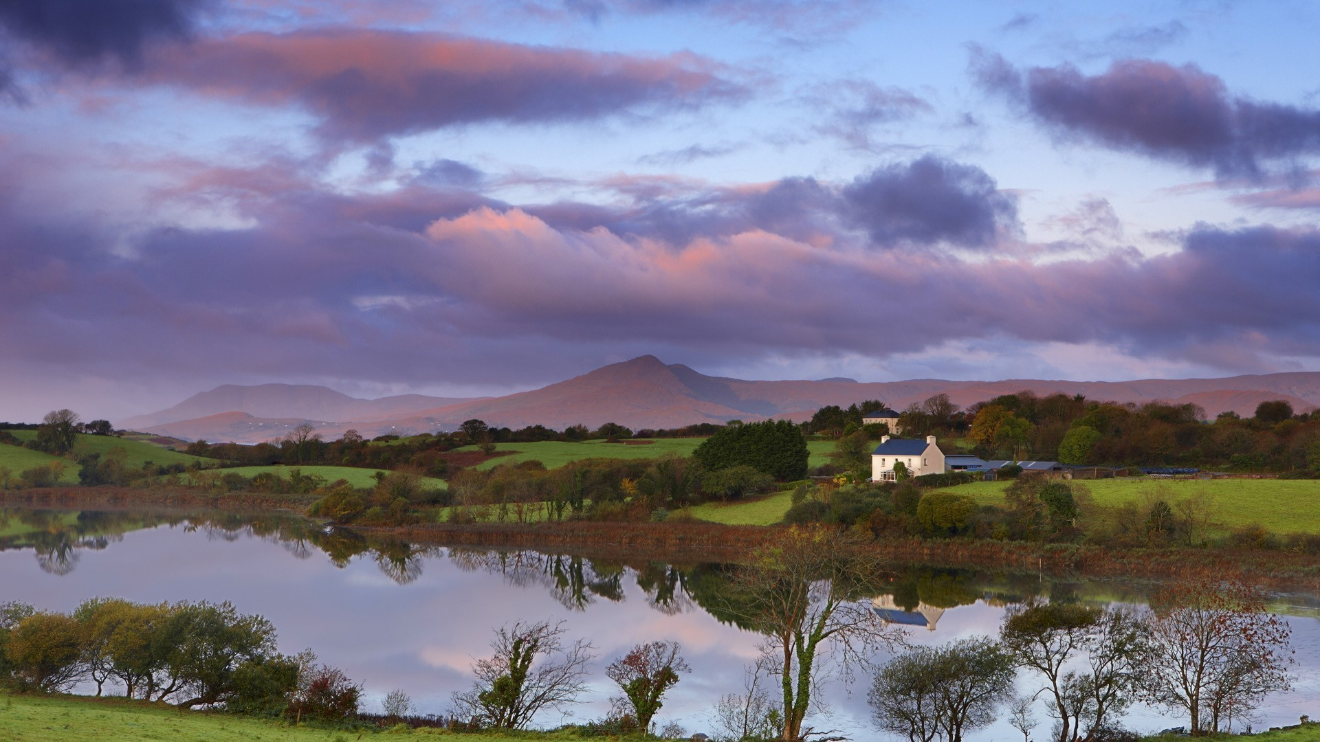 Res: 1920x1080, Lake on a farm in ireland wallpaper