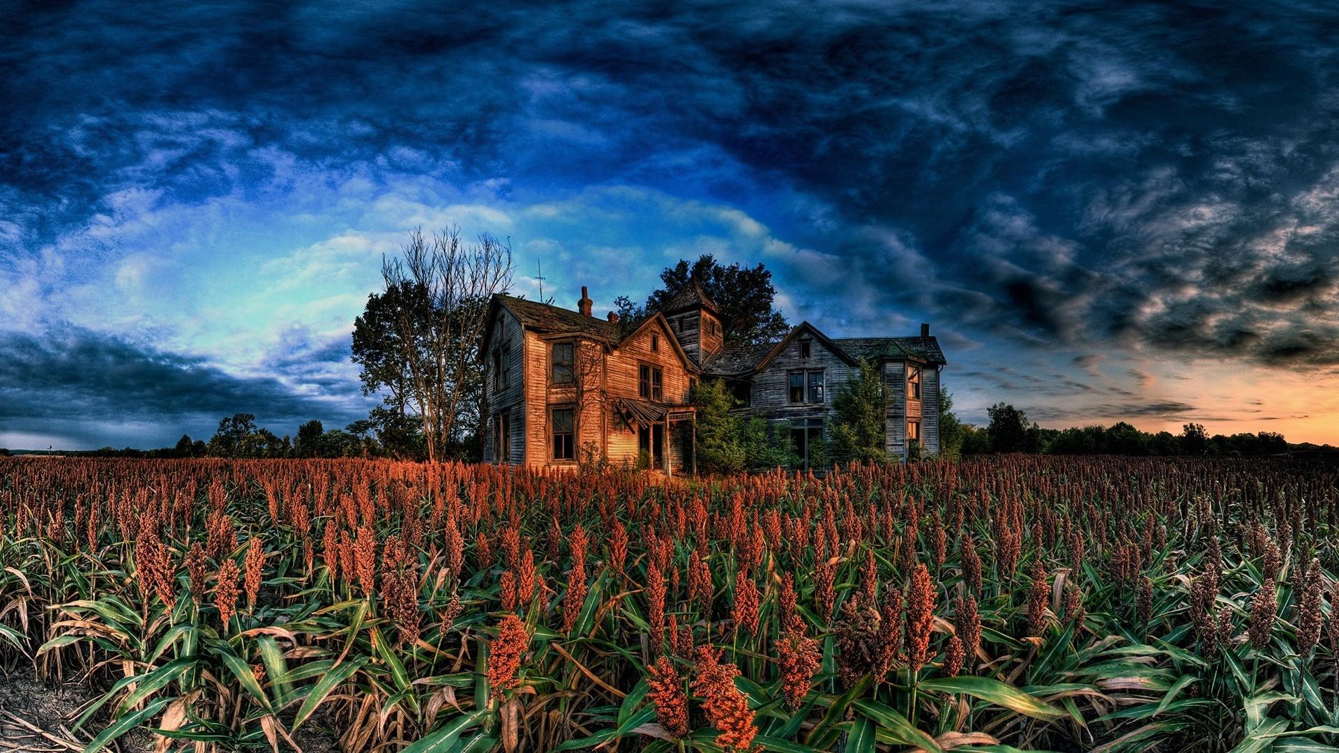 Res: 1920x1080, Green Farm House Wallpaper 1080p