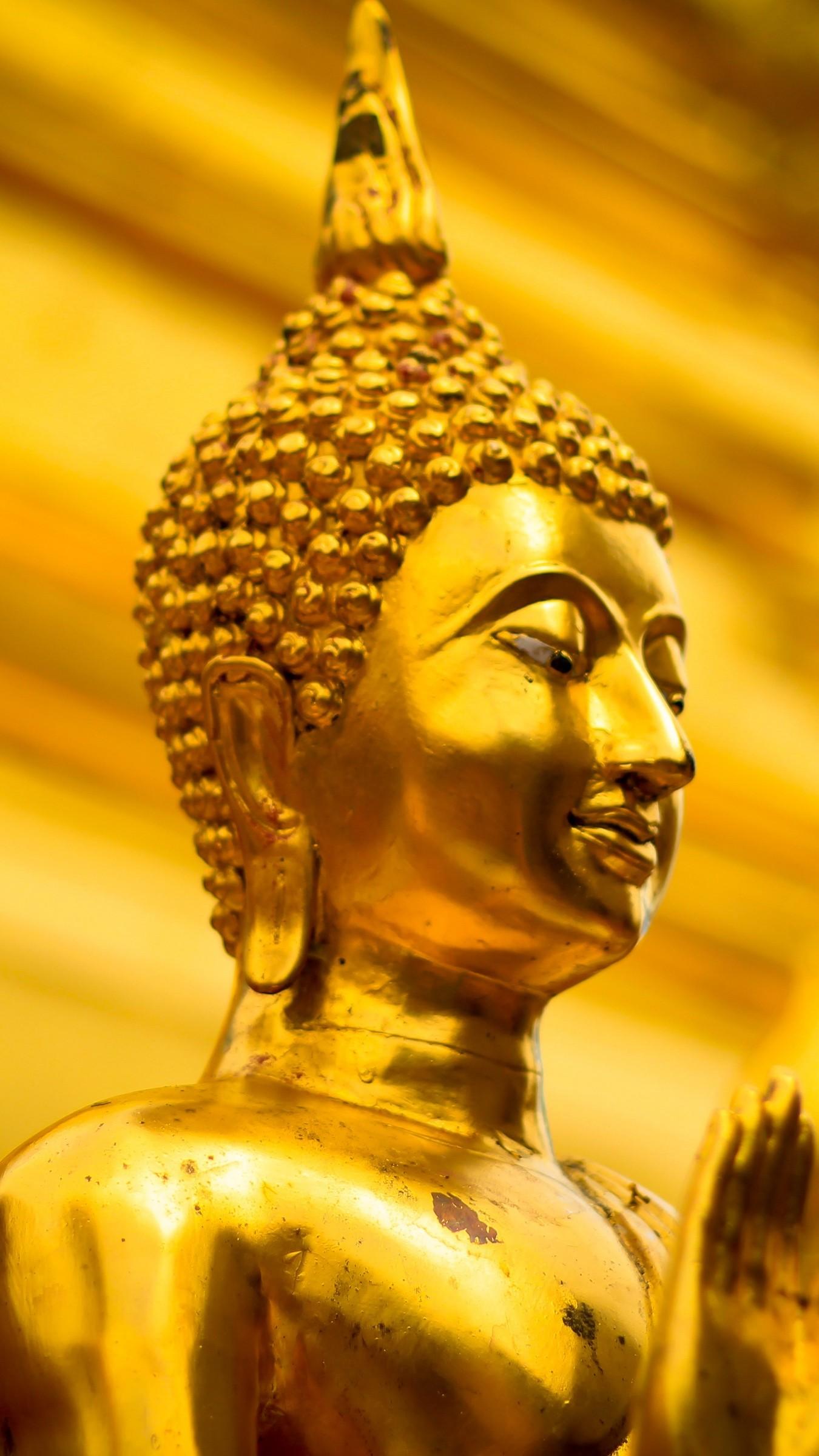 Res: 1350x2400,  Wallpaper buddha, statue, buddhism, religion, thailand