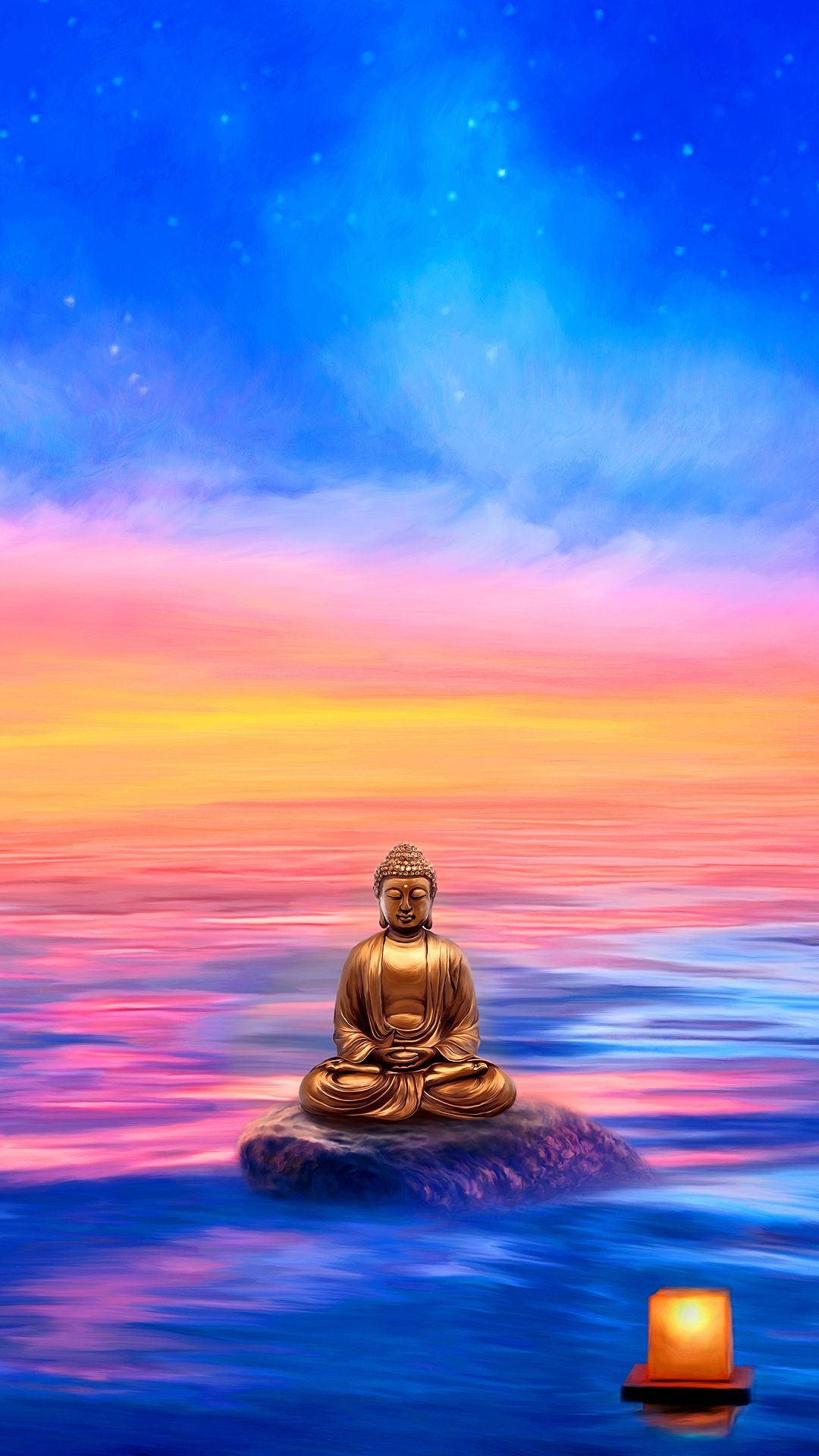 Res: 1080x1920, Buddha Wallpaper for Mobile Devices – Artwork by GoodVibesGallery.com