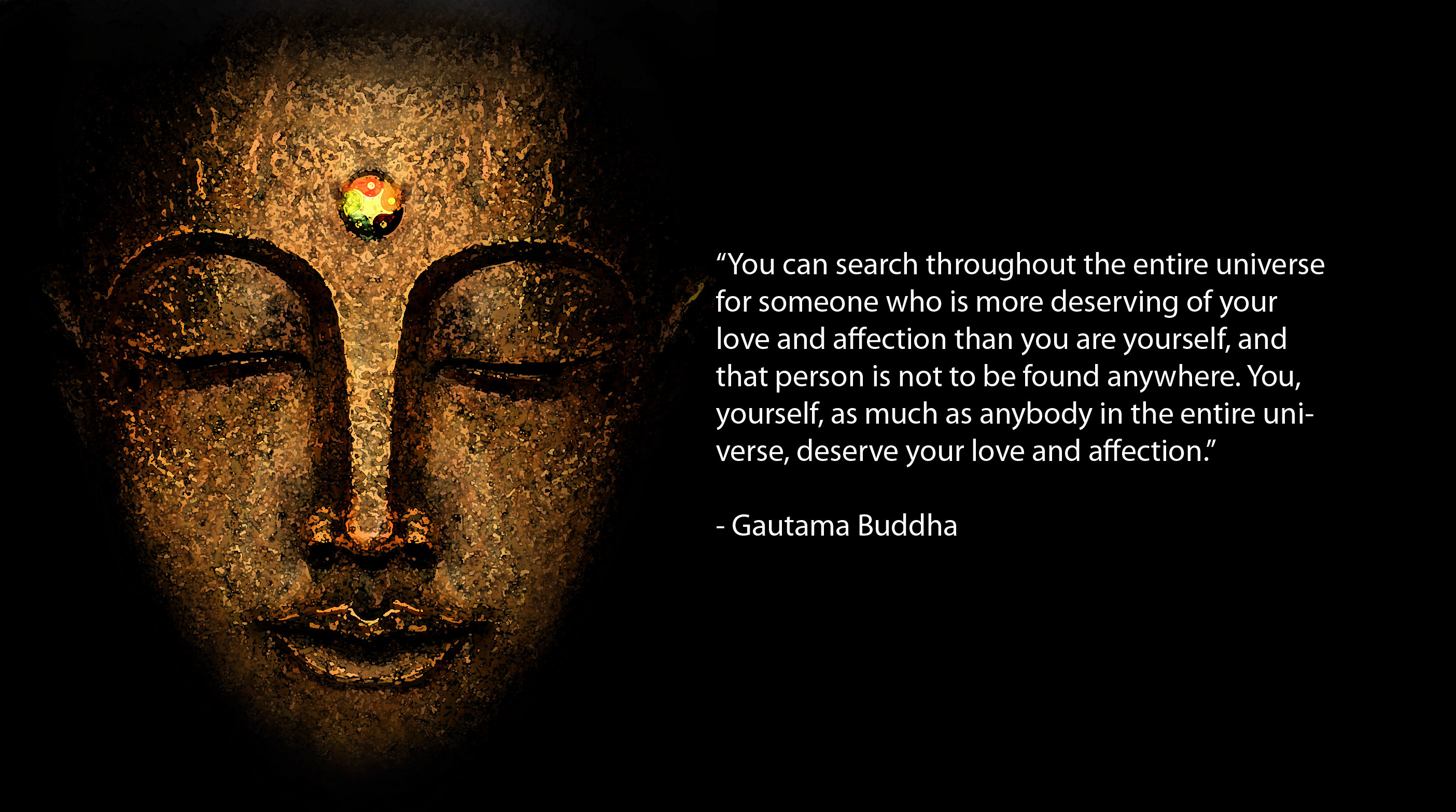 Res: 2808x1566, Wide HDQ Buddha Quote Wallpapers, Awesome Pictures › M.F. Graphics