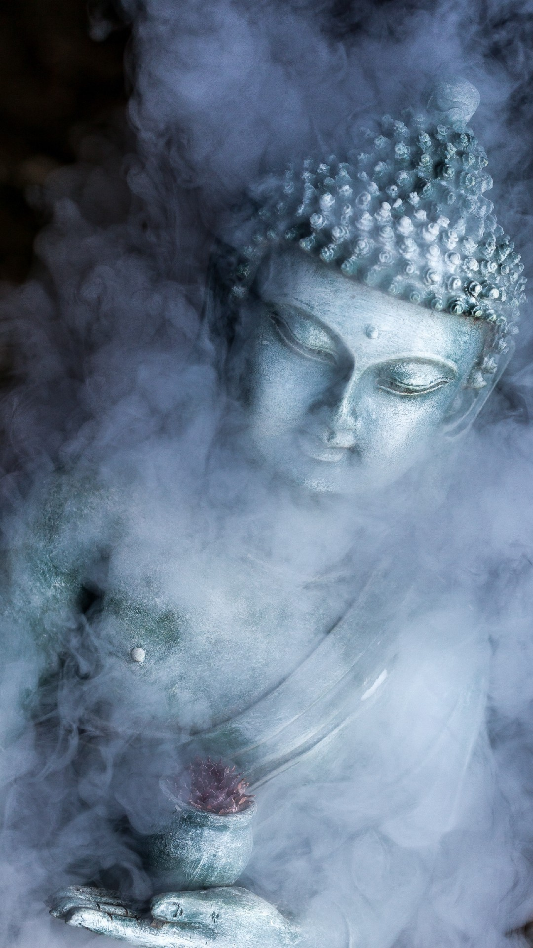 Res: 1080x1920, buddha-in-smoke-Background-Phone-Wallpaper-and Lockscreen-HD