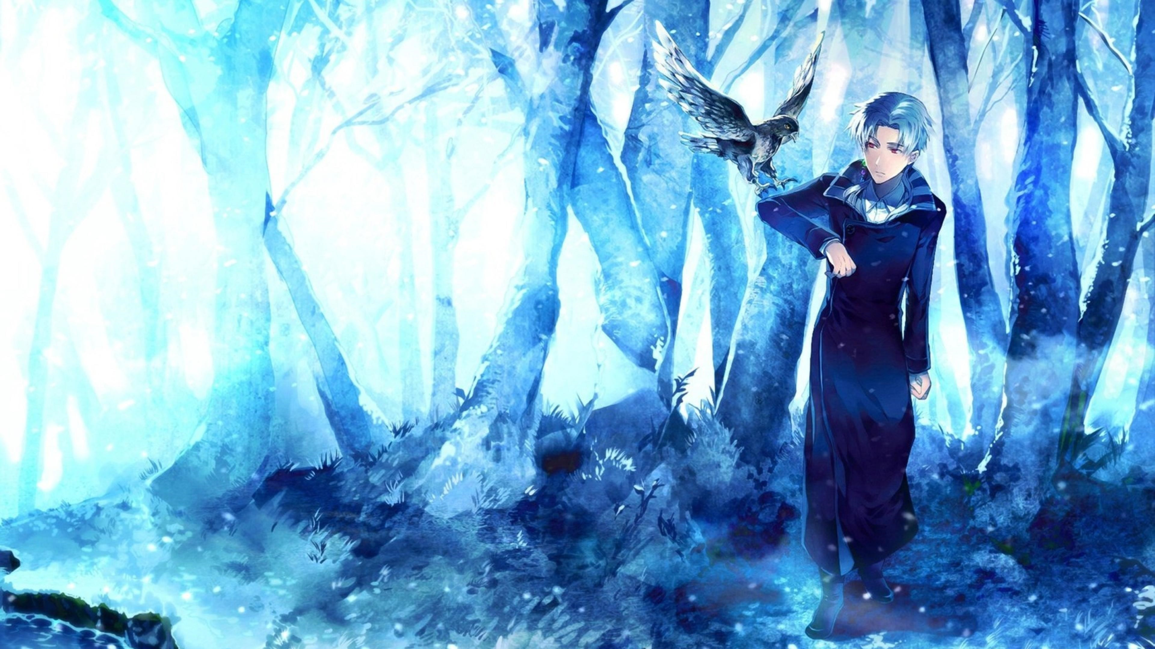 Res: 3840x2160, anime birds artwork fantasy art wallpaper and background