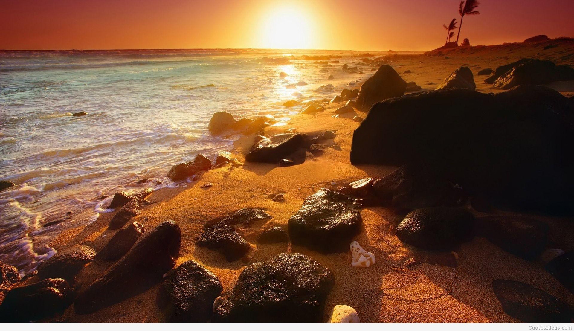 Res: 1920x1107, Summer sunset wallpapers & summer beach wallpapers