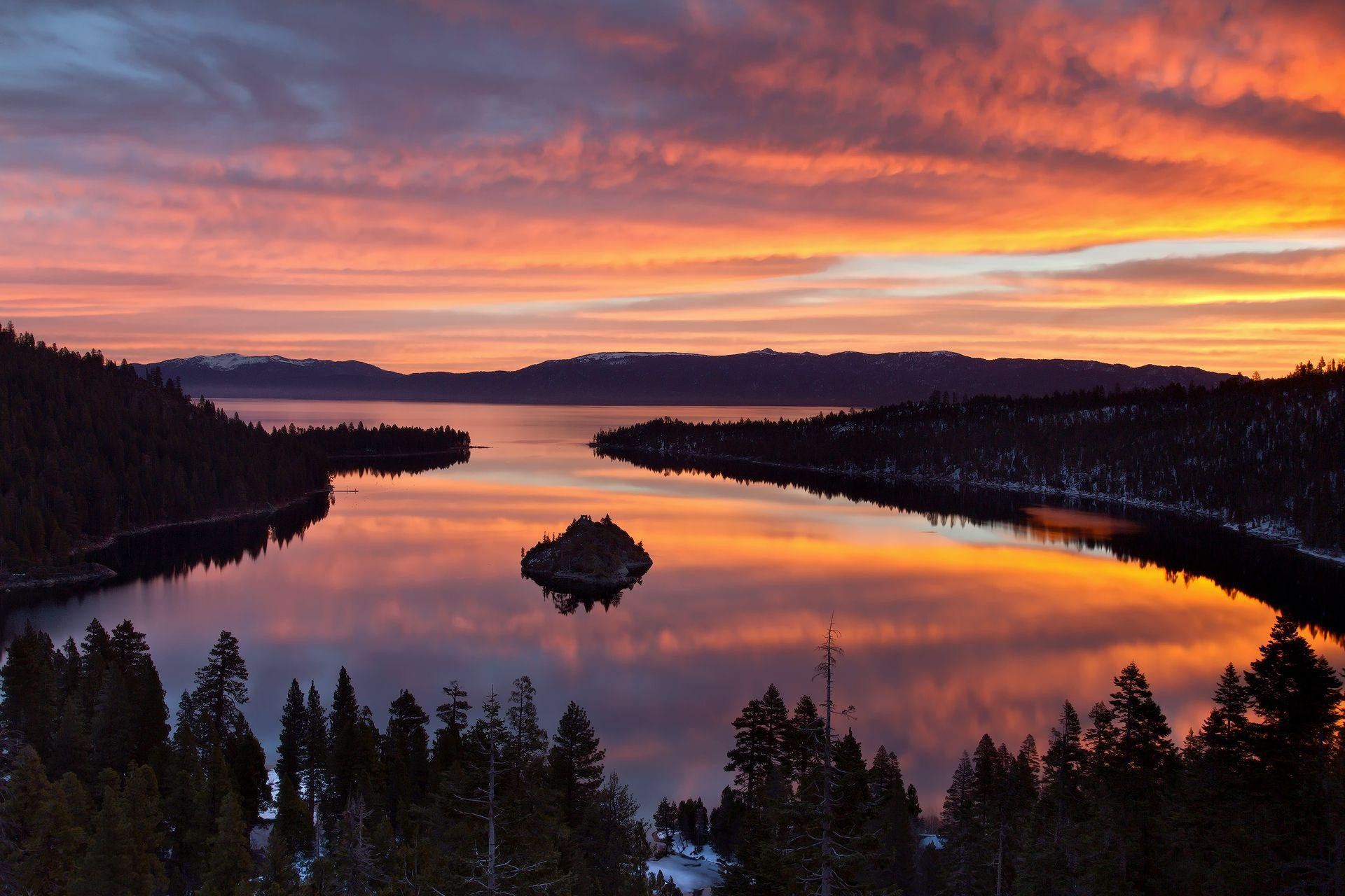 Res: 1920x1280, Lake Tahoe Summer Sunset