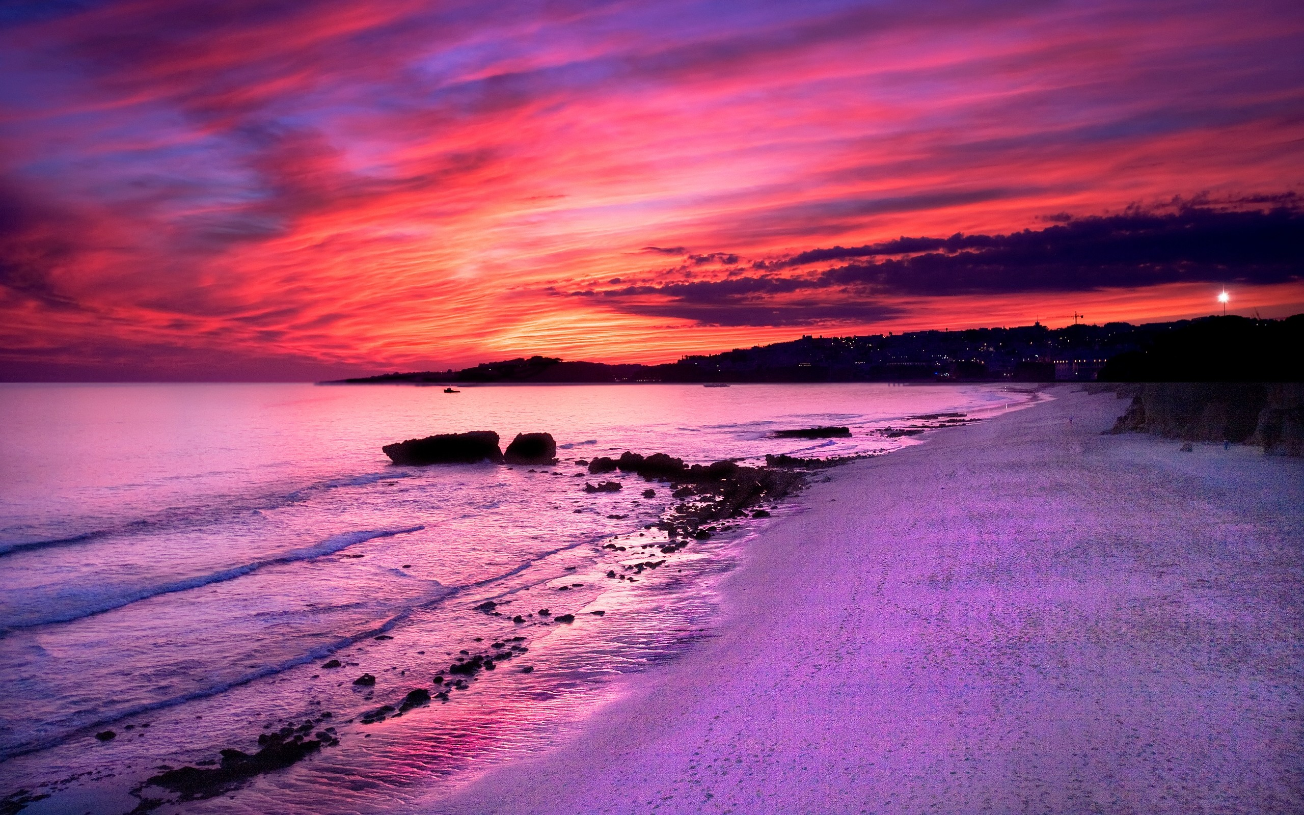 Res: 2560x1600, HD Wallpapers Dream Summer 2012 - purple sunset