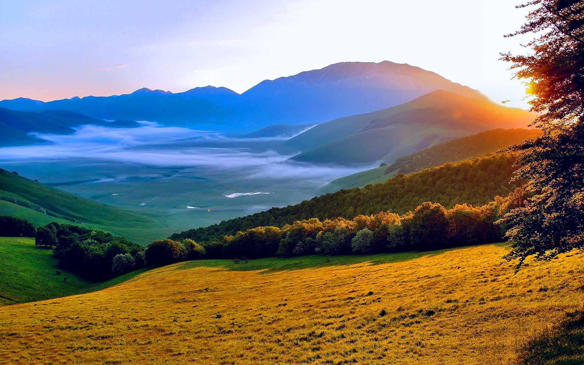 Res: 1920x1200, Summer Landscape Sunset