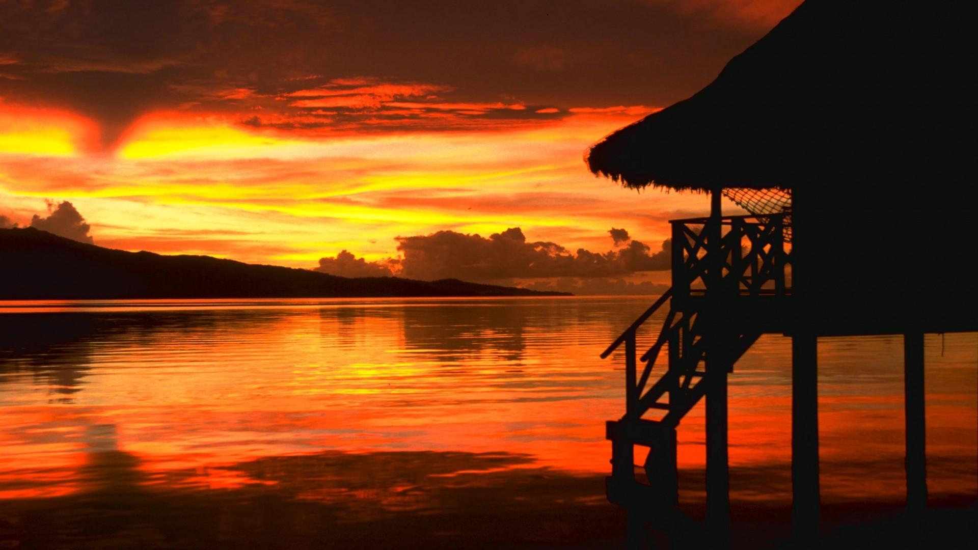 Res: 1920x1080, Beach Sunset Wallpapers Phone : Beach Wallpaper - Rakaruan.com