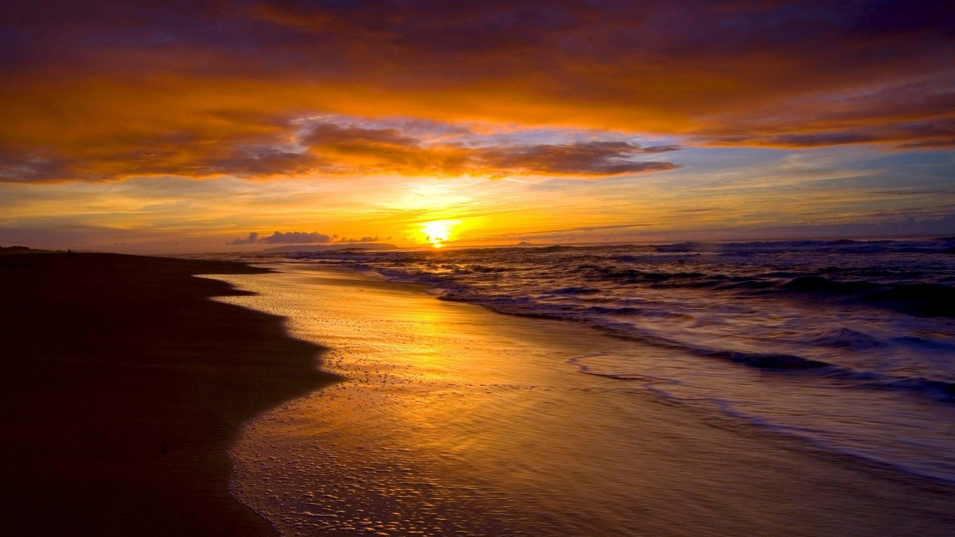 """Res: 1920x1080, Search Results for """"beach sunsets wallpaper"""" – Adorable Wallpapers"""