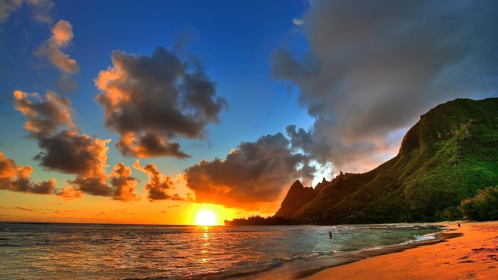 Res: 1920x1080, Beach Sunsethd Wallpaper For Desktop Summer Sunset 1080p Of Iphone Hd Pics
