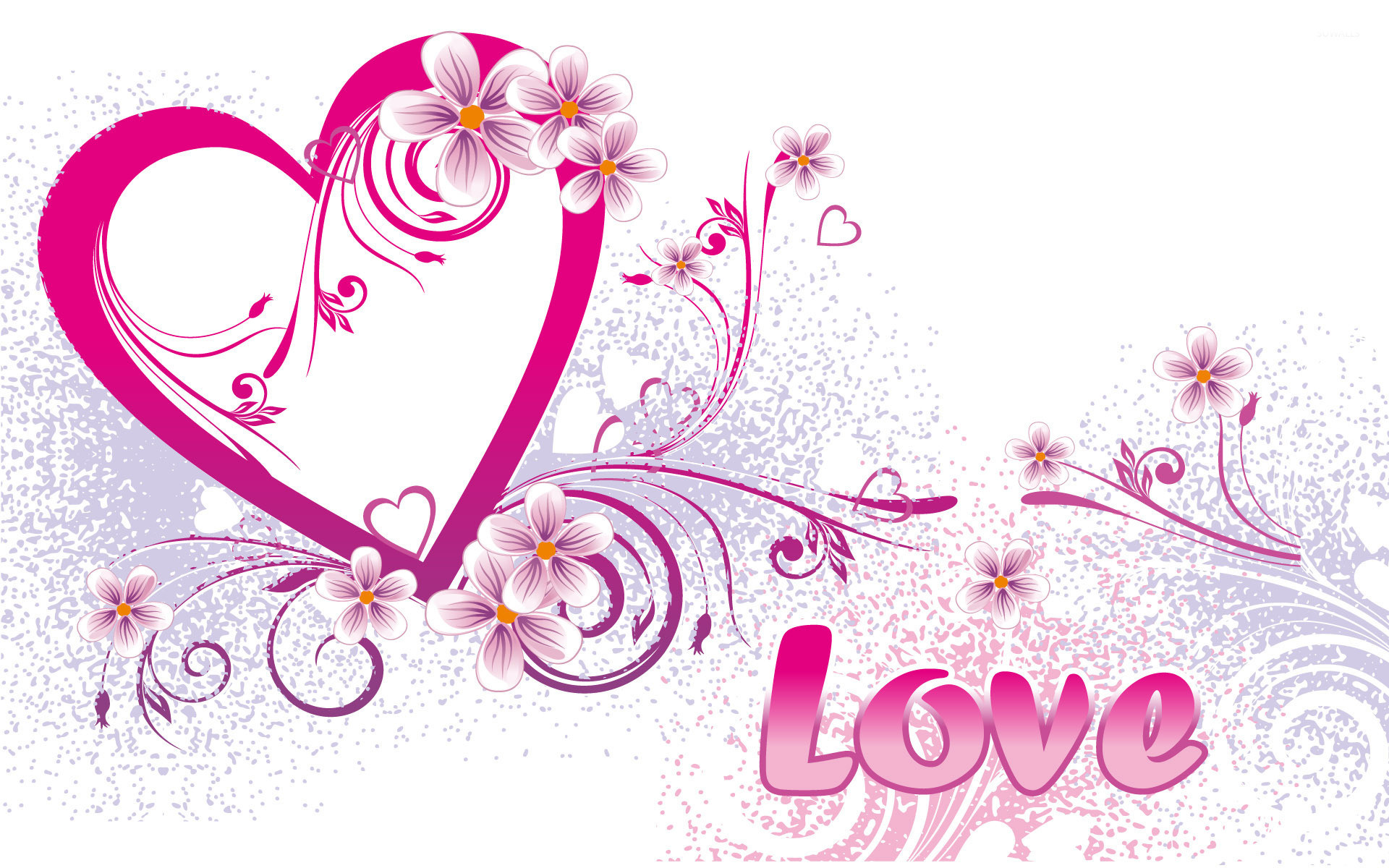 Res: 1920x1200, Love and pink heart wallpaper