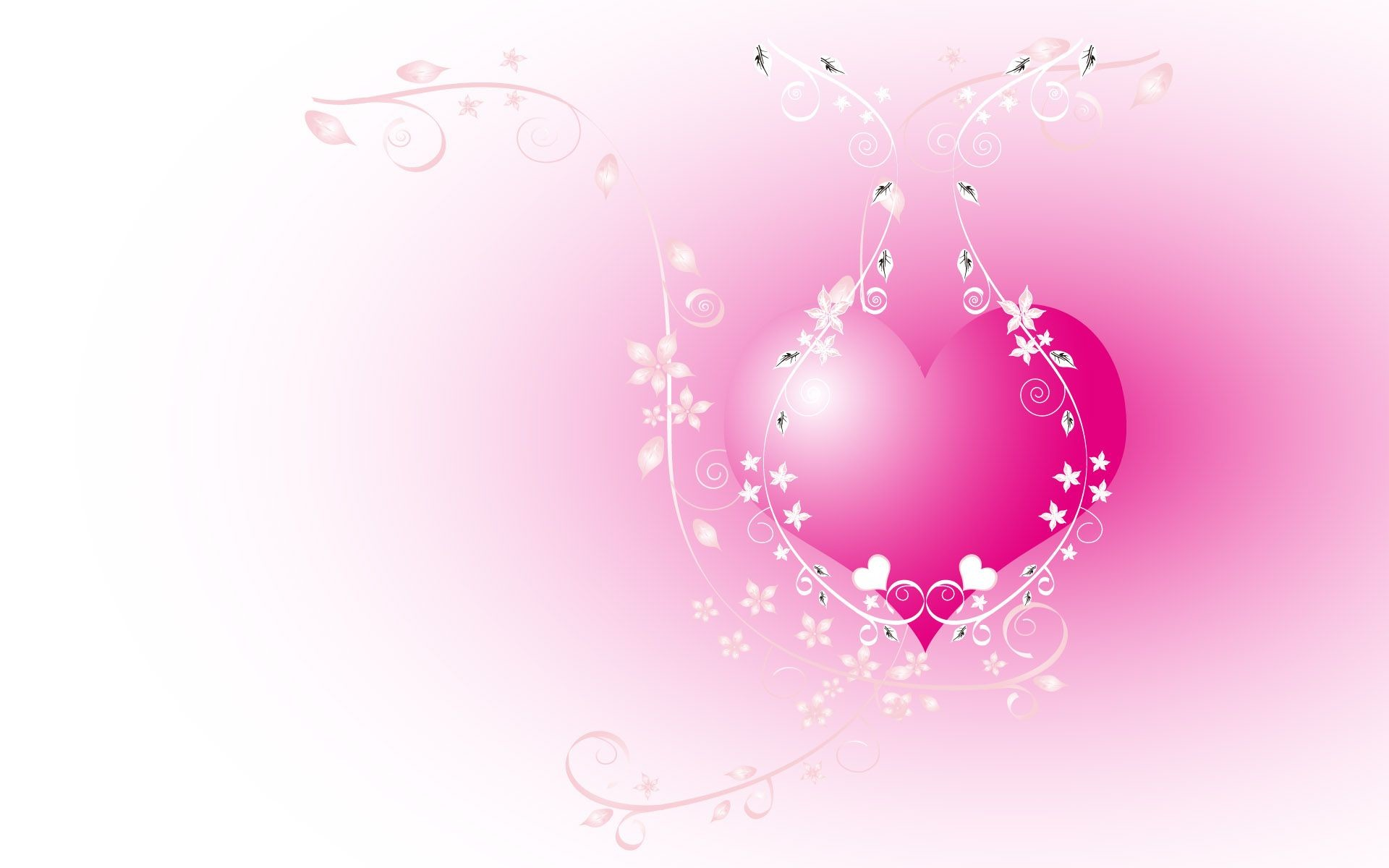Res: 1920x1200, Download Hearts wallpaper, the pink heart image