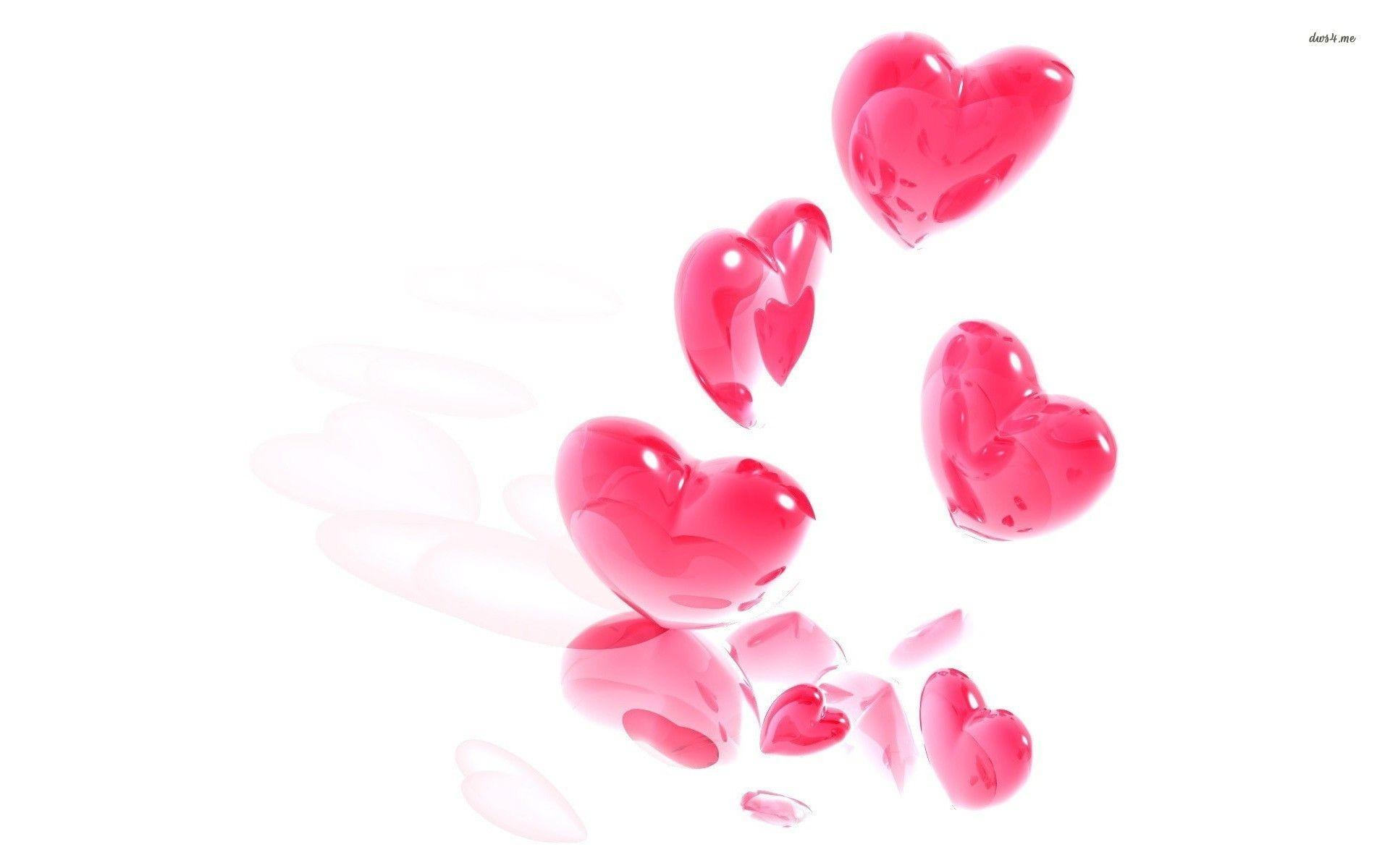 Res: 1920x1200, Cute Pink Heart Wallpaper