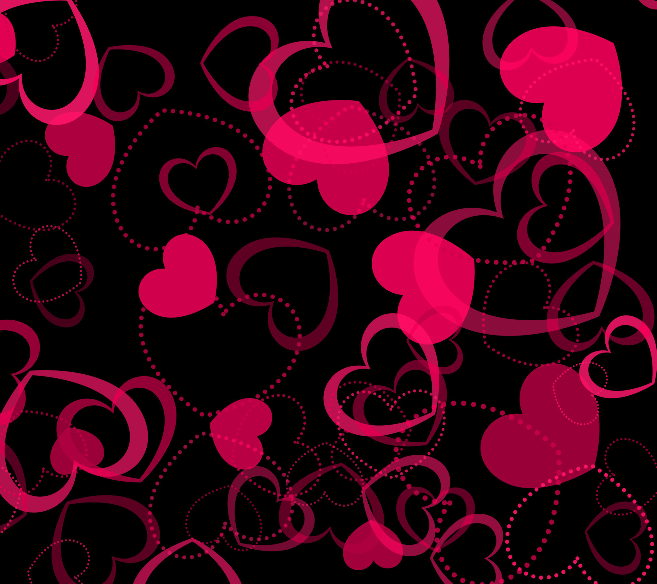 Res: 2160x1920, Pink Hearts Wallpapers - Wallpaper Zone
