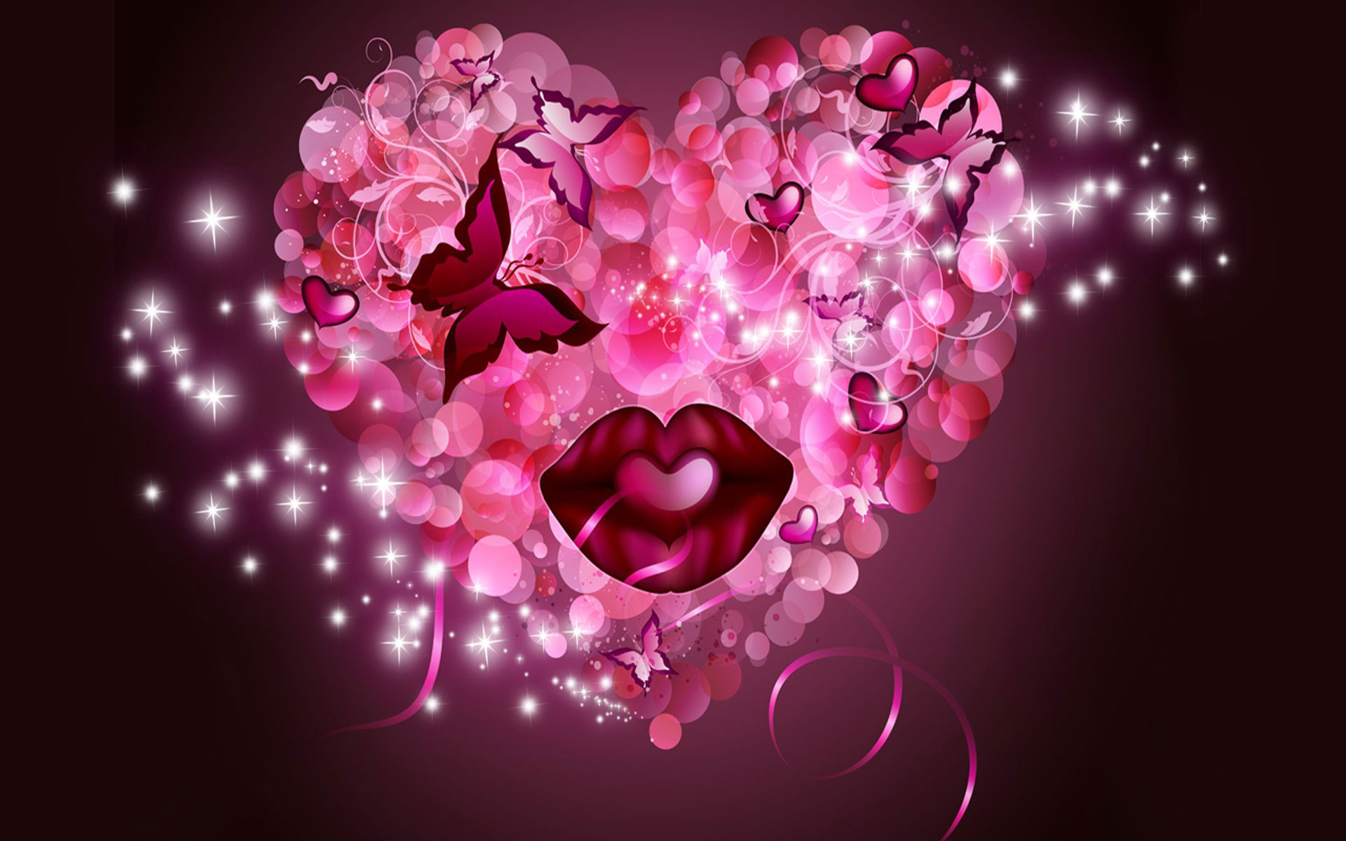 Res: 1920x1200, pink-heart-hd-wide-wallpaper